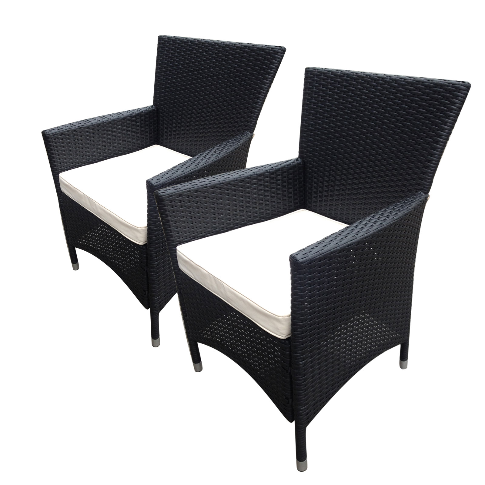 Bentley Garden Indoor Outdoor Pair Of Rattan Armchairs 2 ...