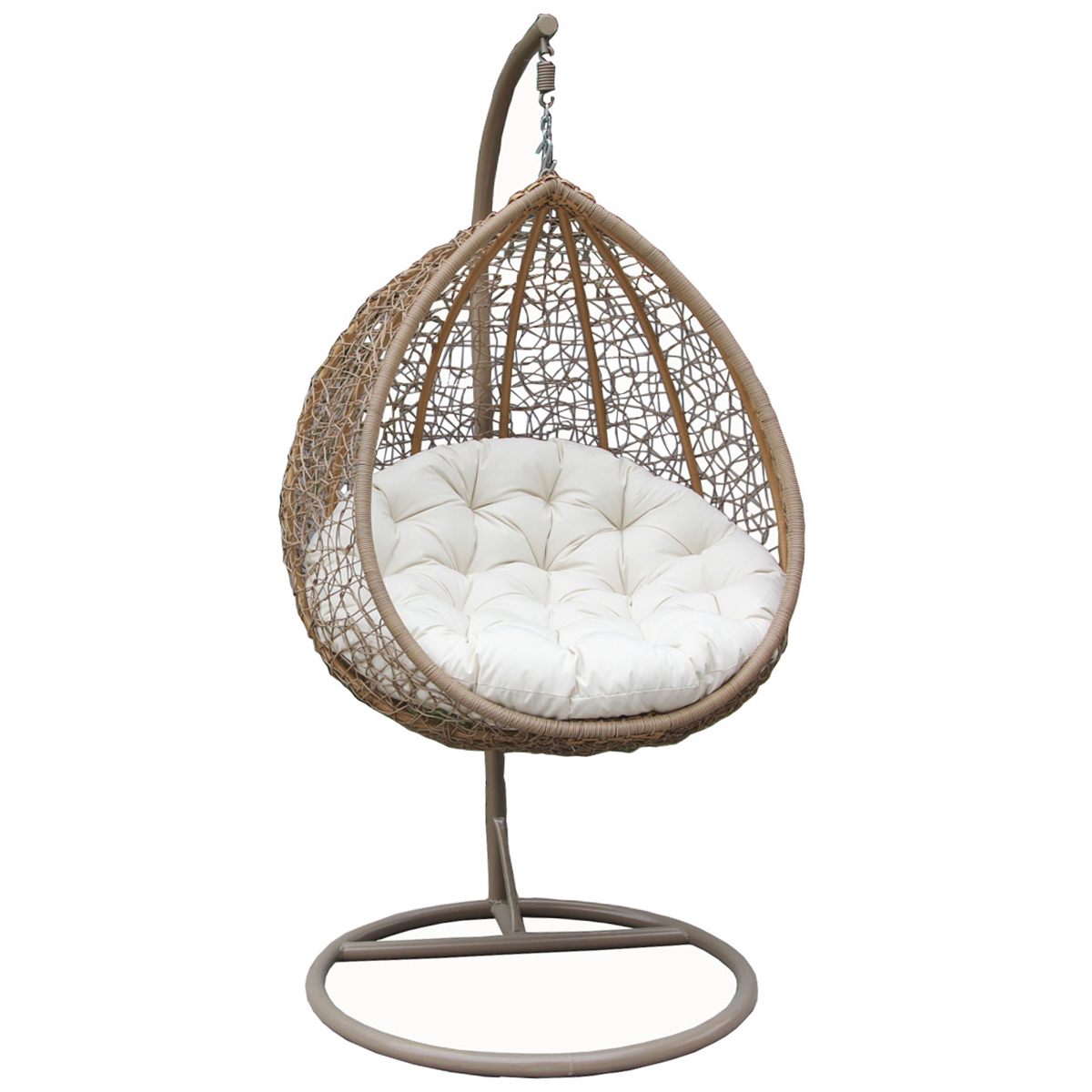 Bentley Garden Wicker Rattan Patio Hanging Swing Chair ...