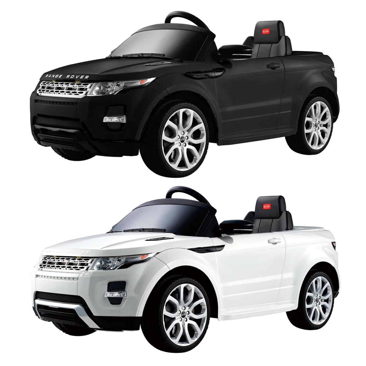 voiture lectrique 12 v style range rover t l commande enfant noir blanc ebay. Black Bedroom Furniture Sets. Home Design Ideas