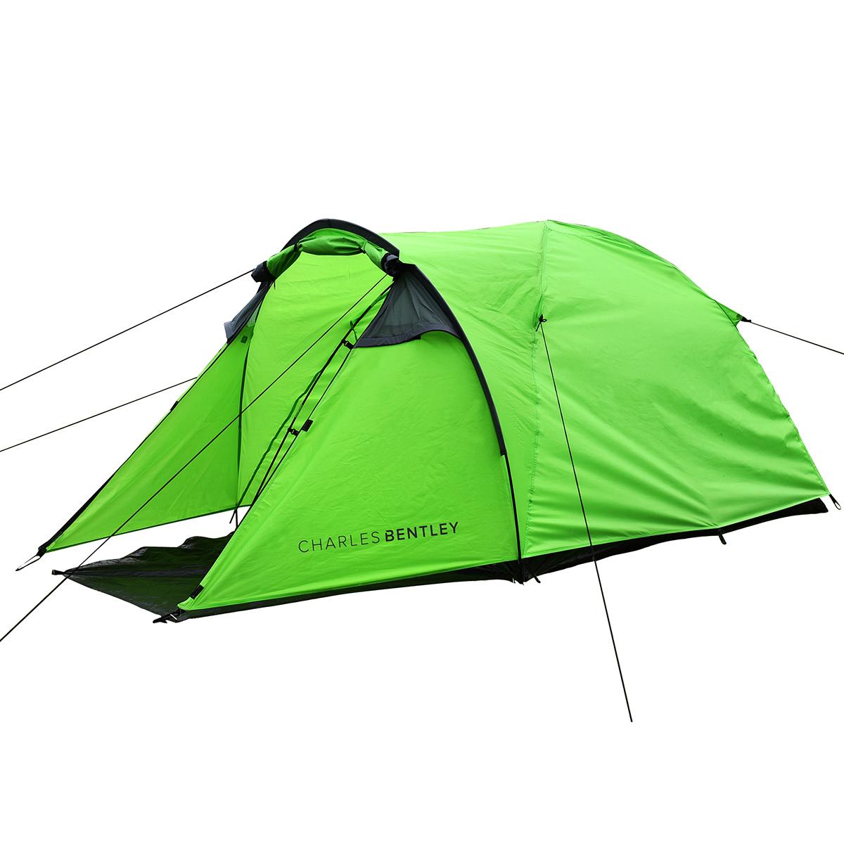 Details about Charles Bentley 2 Man Waterproof C&ing Tent u0026 Awning Built Outdoor - Grey  sc 1 st  eBay & Charles Bentley 2 Man Waterproof Camping Tent u0026 Awning Built Outdoor ...