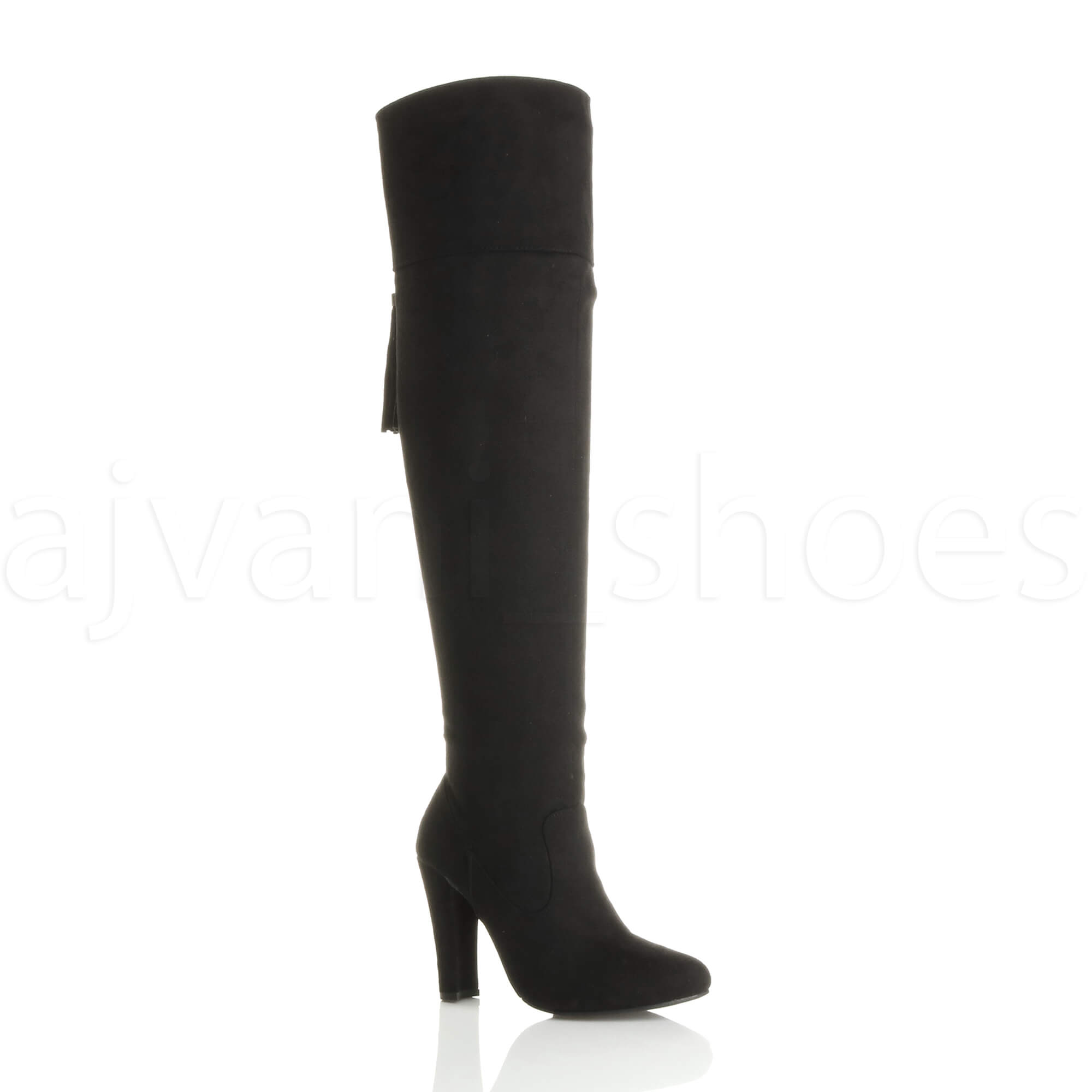 WOMENS-LADIES-BLOCK-HIGH-HEEL-TASSEL-SMART-OVER-THE-KNEE-THIGH-HIGH-BOOTS-SIZE
