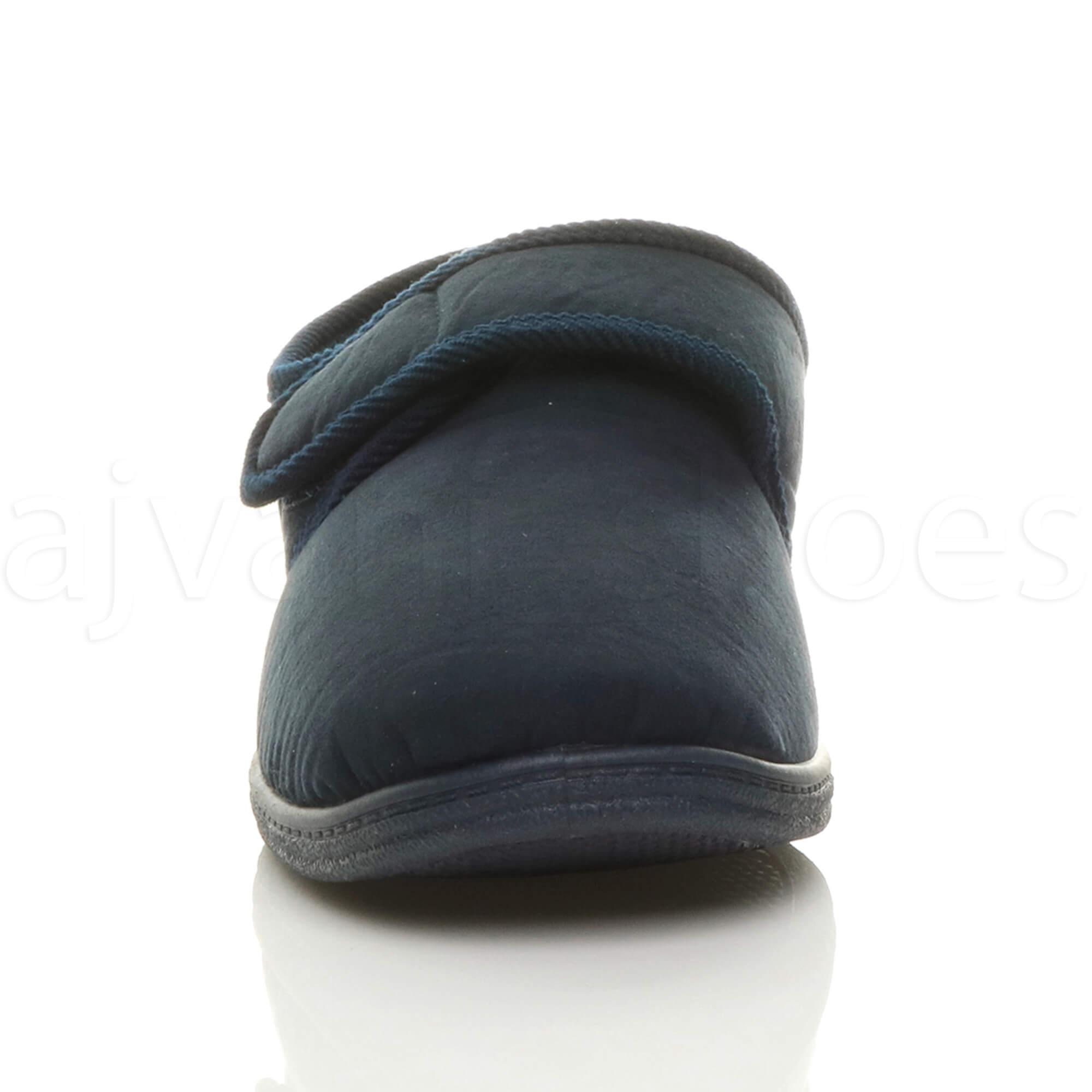 Dettagli su Comfort Regolabile da Uomo diabetici Ortopedico Pantofole Scarpe Casa con suola antiscivolo Misura mostra il titolo originale