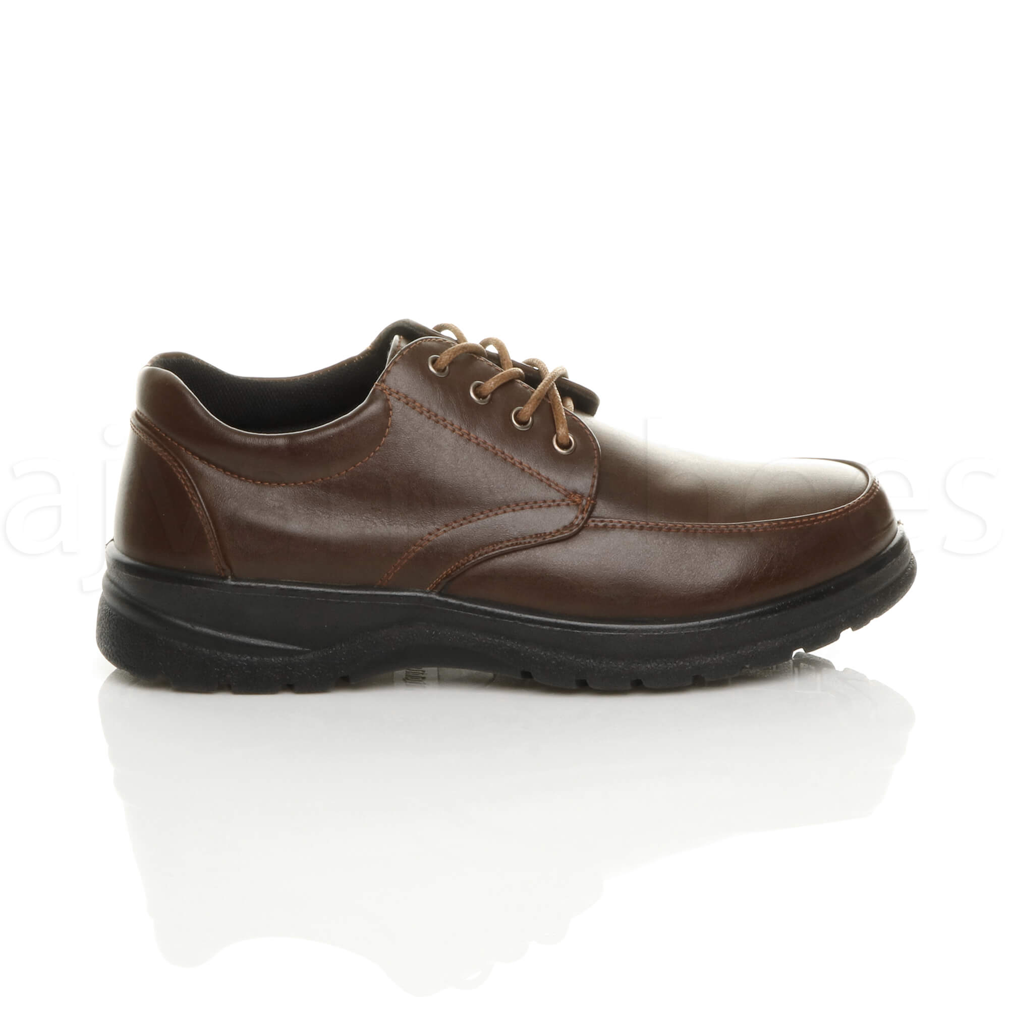 MENS-LACE-UP-CASUAL-MEMORY-FOAM-INSOLE-COMFORT-CUSHIONED-WORK-SHOES-SIZE thumbnail 11