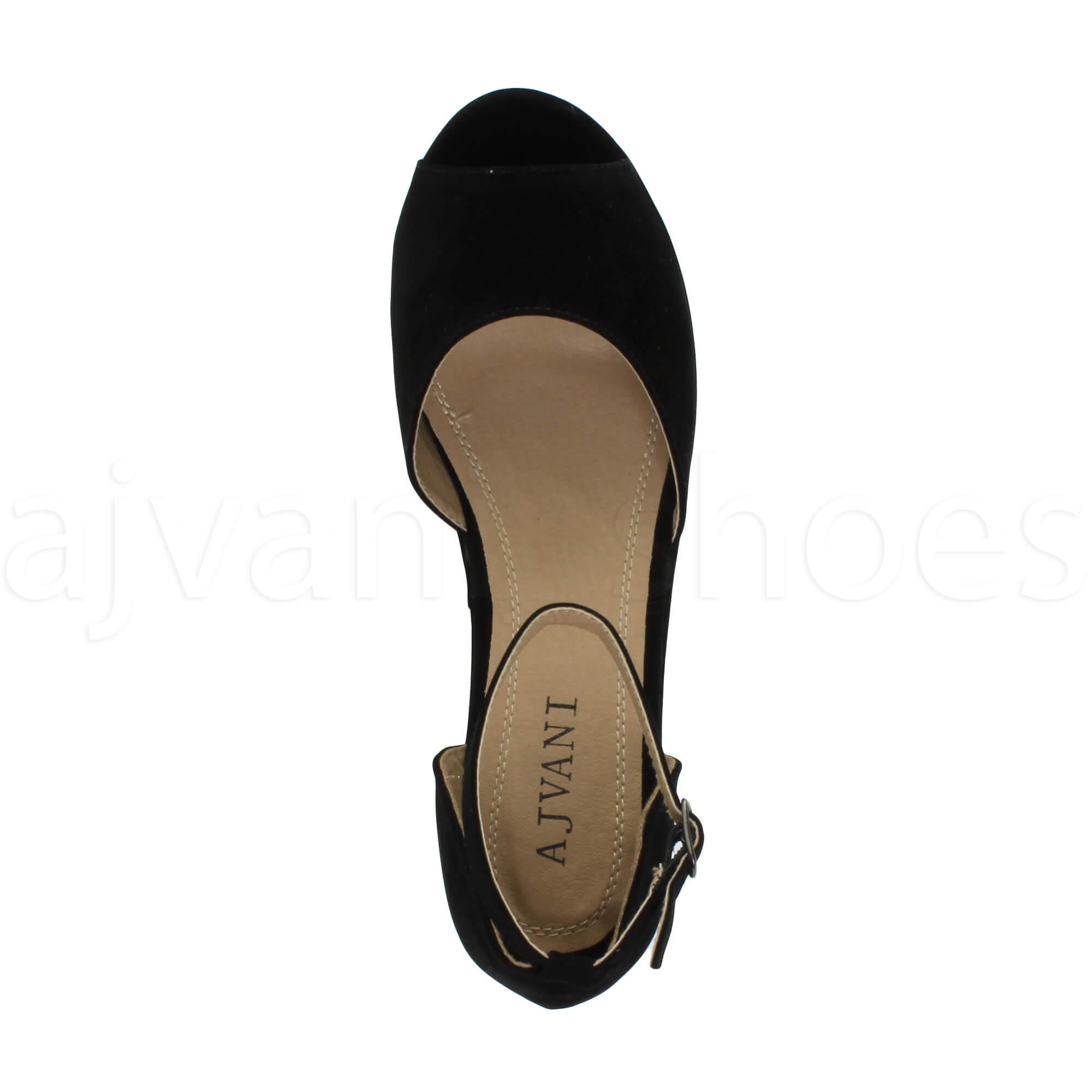 Mujeres-medio-de-cuna-talon-plataforma-flatform-punta-abierta-sandalias-talla