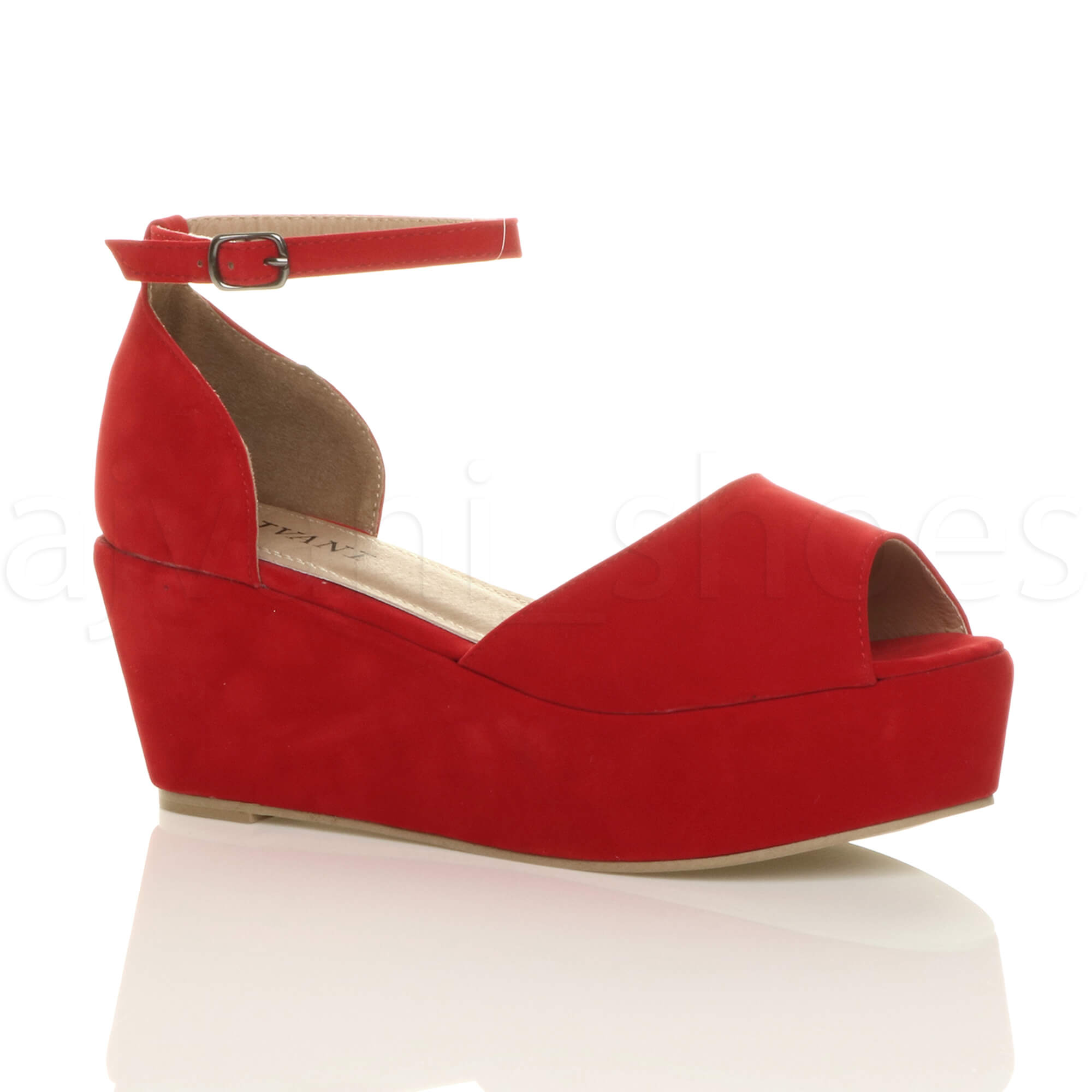 Red Wedge Shoes Size
