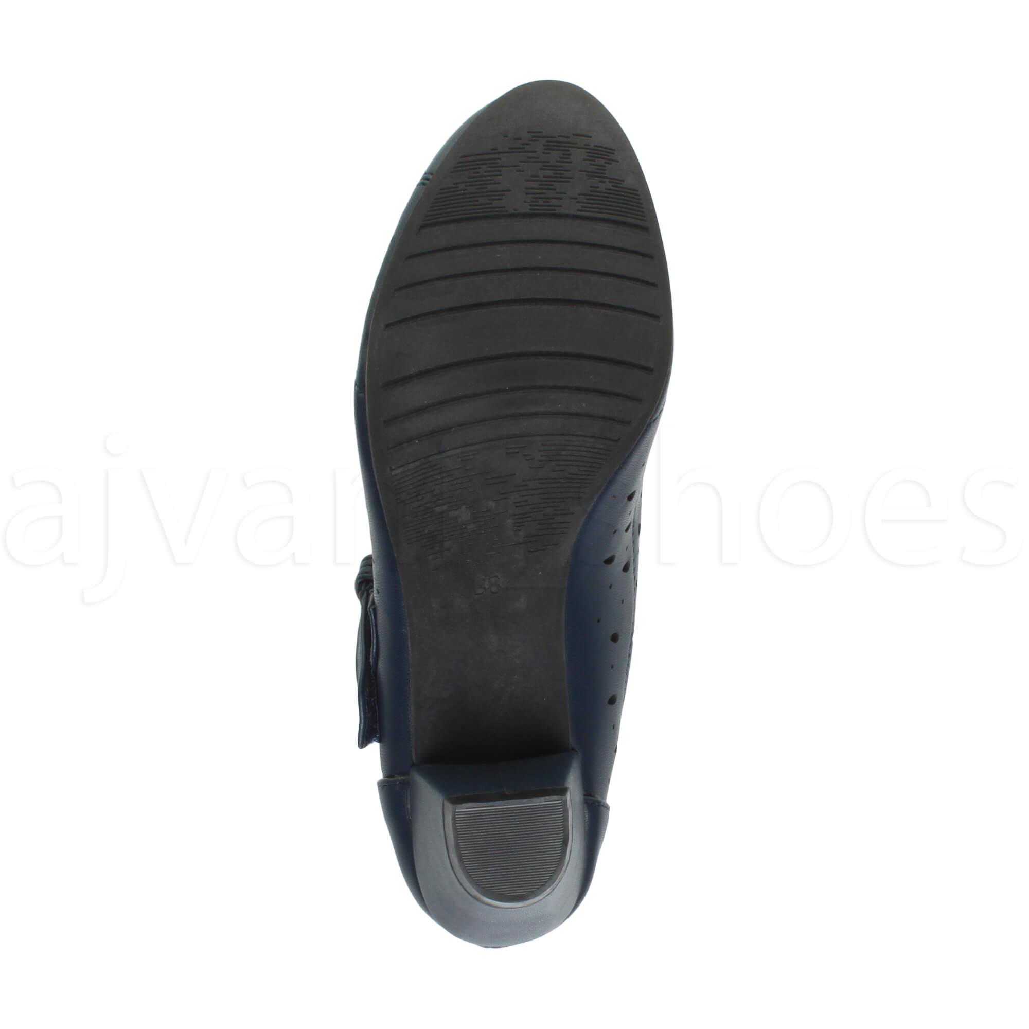 Da-Donna-con-Tacco-Medio-a-Blocco-Mary-Jane-Gancio-e-Passante-tagliato-CALATA-Plateau-Misura miniatura 22