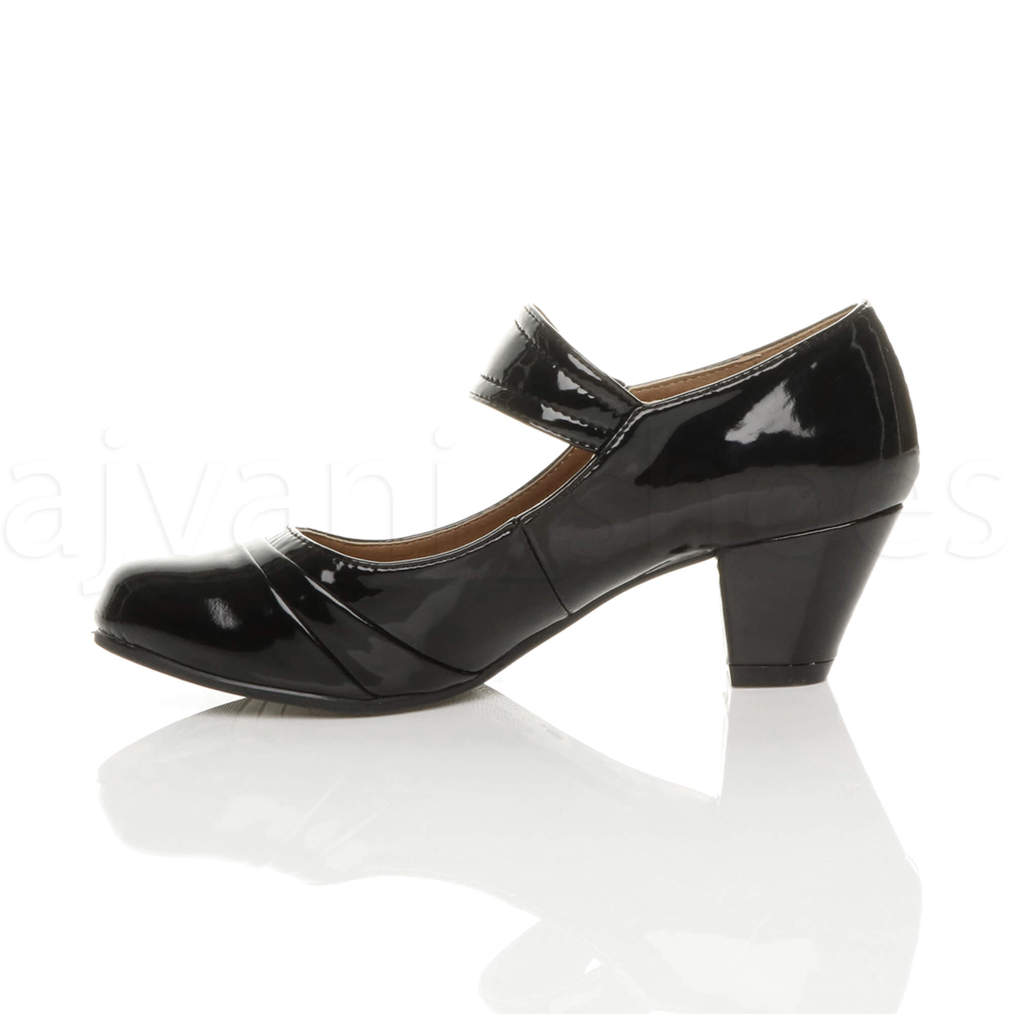 Black Mary Jane Comfort Court Shoes