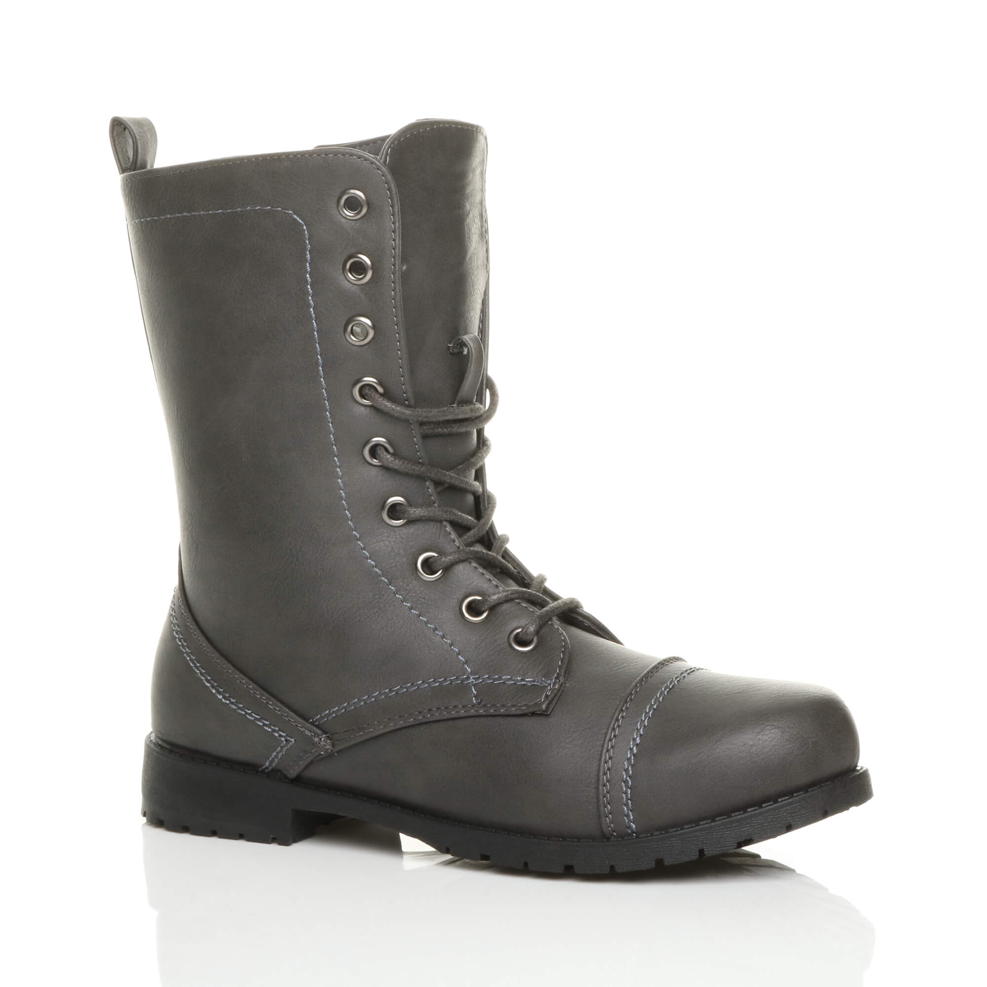 WOMENS-LADIES-LOW-HEEL-LACE-UP-ZIP-ARMY-COMBAT-BIKER-MILITARY-ANKLE-BOOTS-SIZE