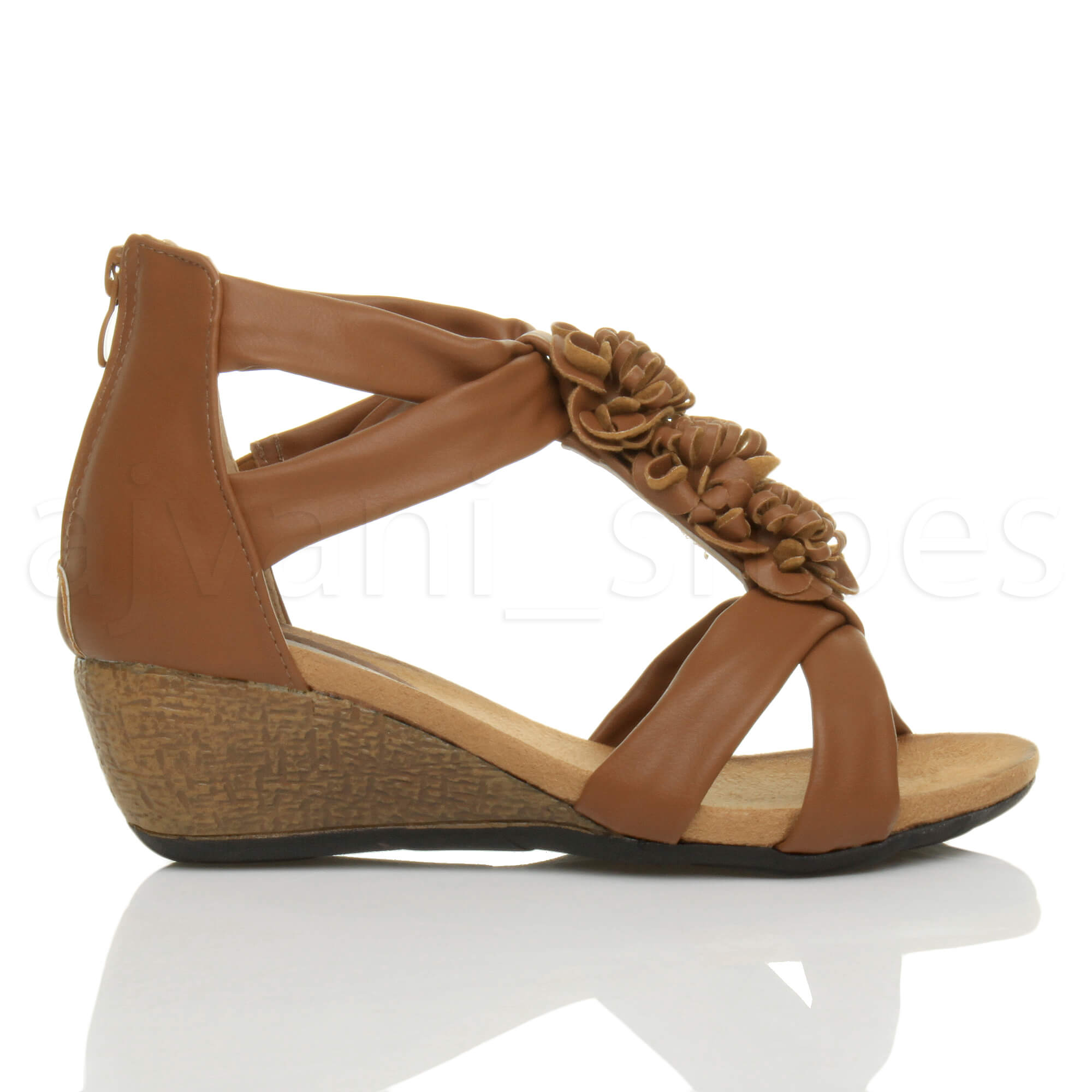WOMENS-LADIES-LOW-MID-HEEL-WEDGES-PEEPTOE-T-BAR-FLOWER-STRAPPY-SANDALS-SHOE-SIZE