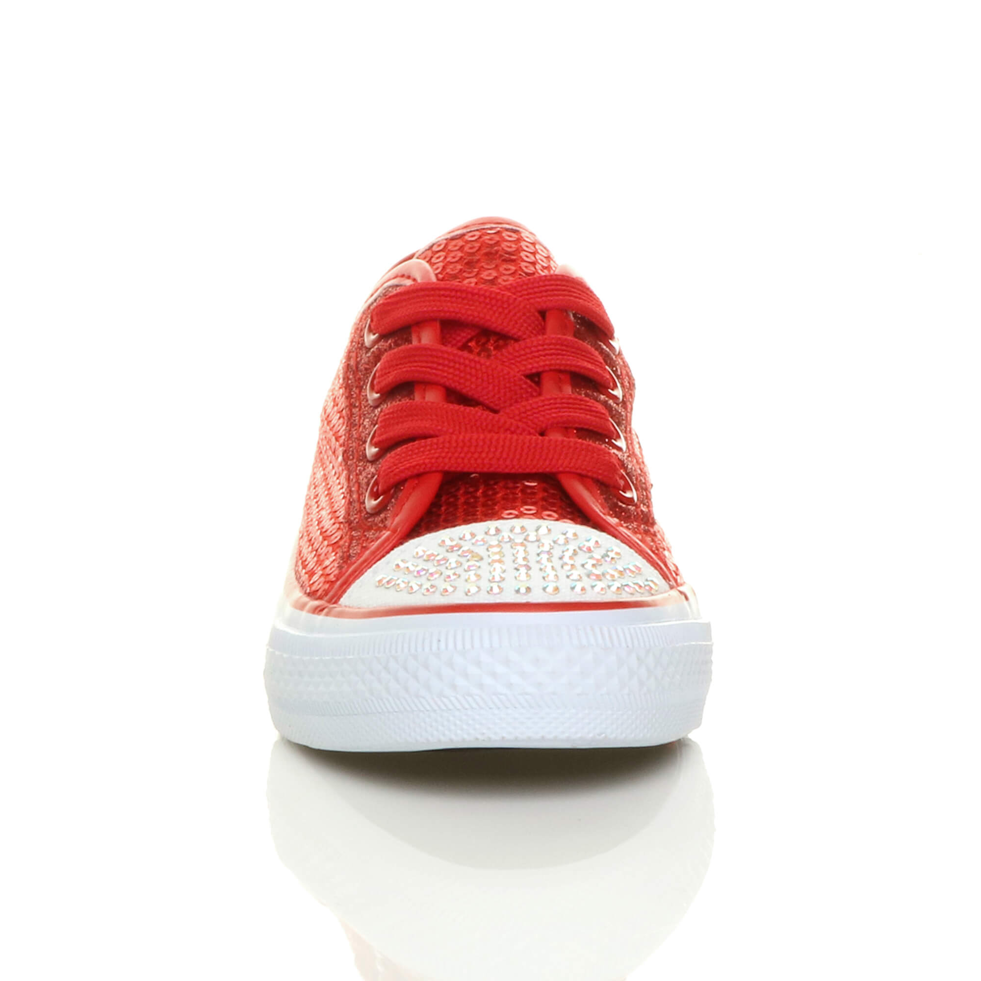 GIRLS-KIDS-CHILDRENS-FLAT-GLITTER-LACE-UP-PLIMSOLES-TRAINERS-SNEAKERS-SIZE