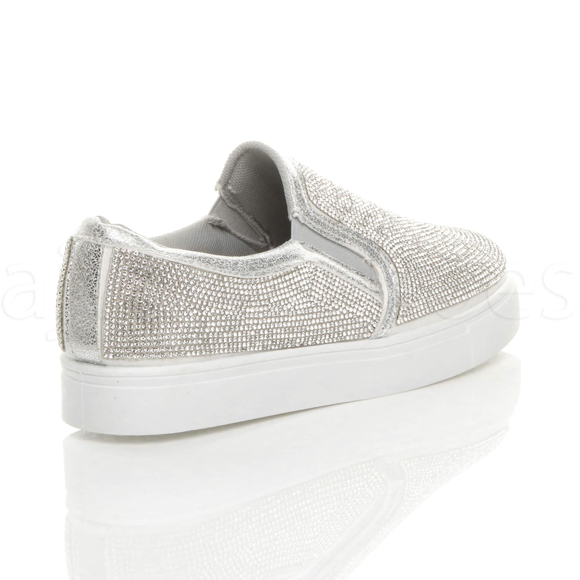 New Ladies Low Ankle Diamante Pumps Women Skater Shoes Plimsols Trainers Boots