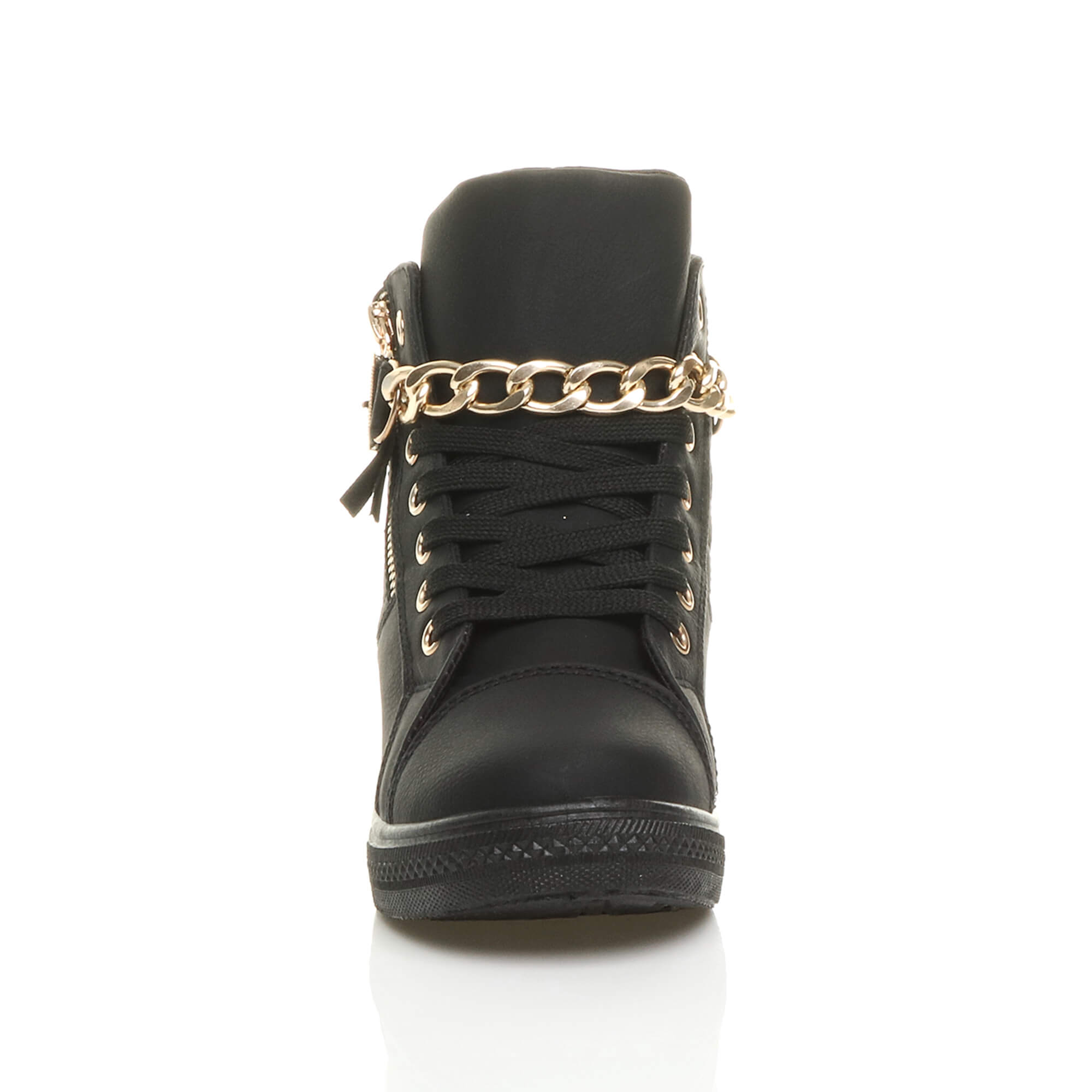WOMENS-LADIES-MID-HEEL-WEDGE-PLATFORM-LACE-UP-HIGH-TOP-ANKLE-TRAINERS-BOOTS-SIZE