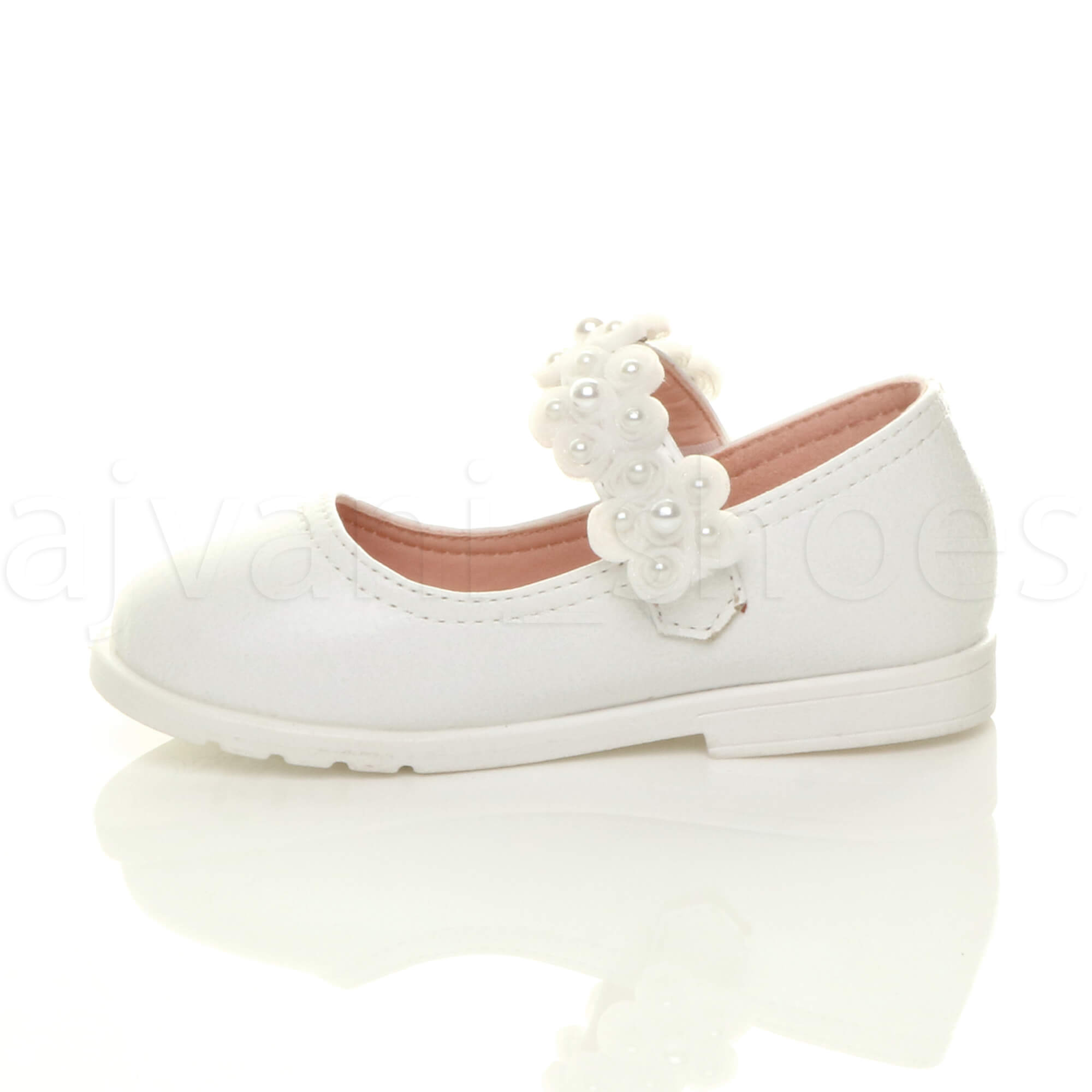 GIRLS-KIDS-CHILDRENS-FLAT-FLOWER-MARY-JANE-STRAP-BRIDESMAID-PARTY-SHOES-SIZE