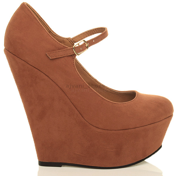 WOMENS-LADIES-HIGH-HEEL-WEDGE-PLATFORM-MARY-JANE-FULL-TOE-COURT-SHOES-PUMPS-SIZE