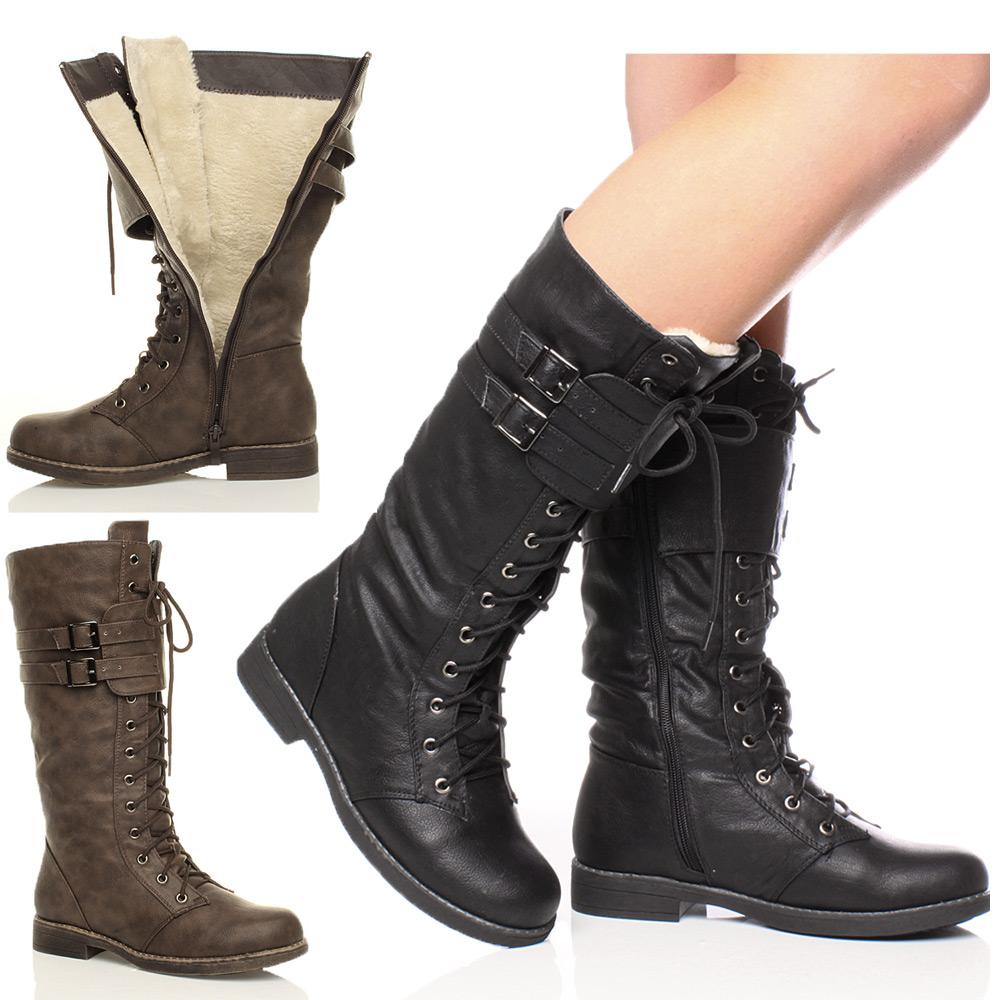 0ec0af28 botas altas cordones mujer