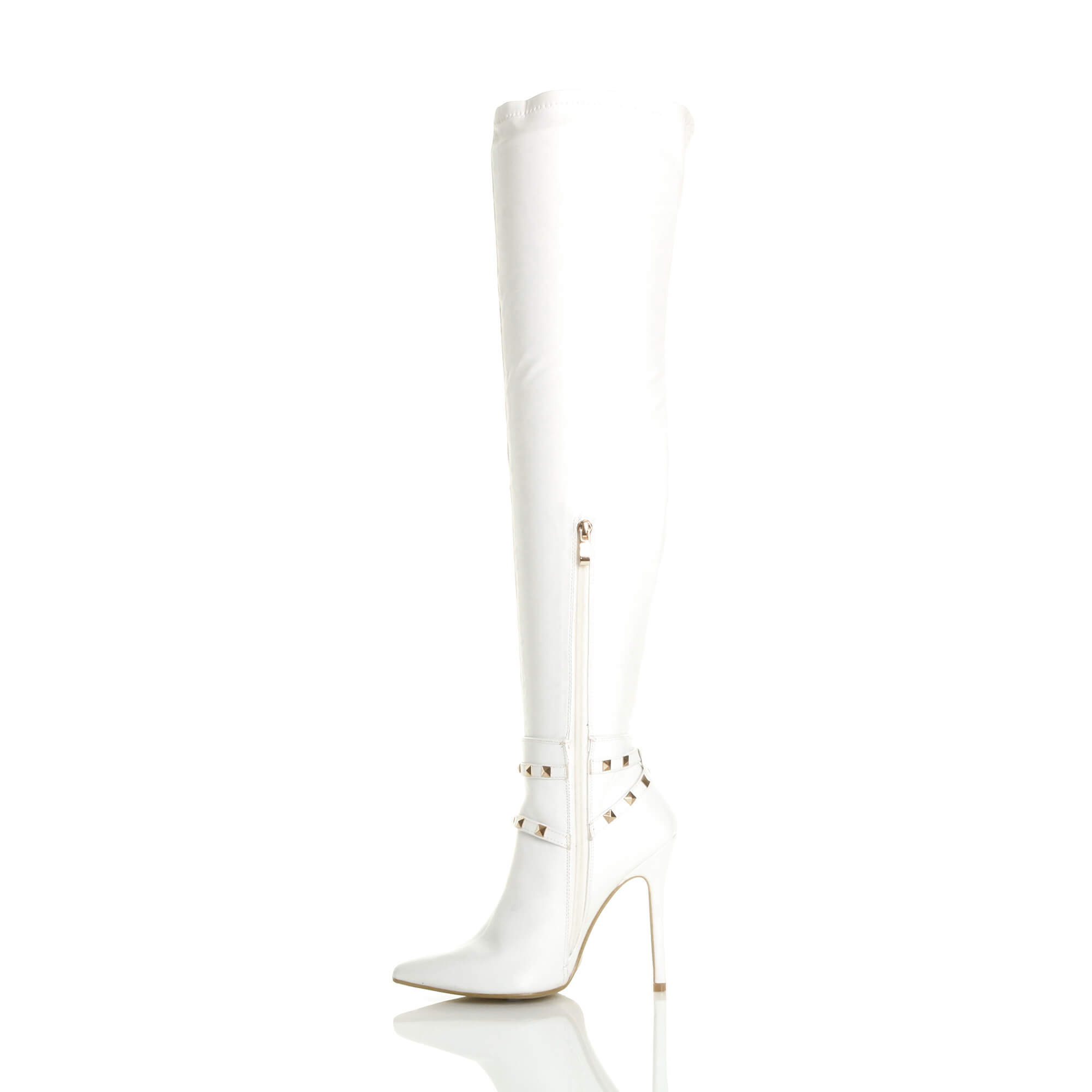 WOMENS-LADIES-HIGH-HEEL-STUDDED-STIRRUP-OVER-THE-KNEE-POINTED-THIGH-BOOTS-SIZE