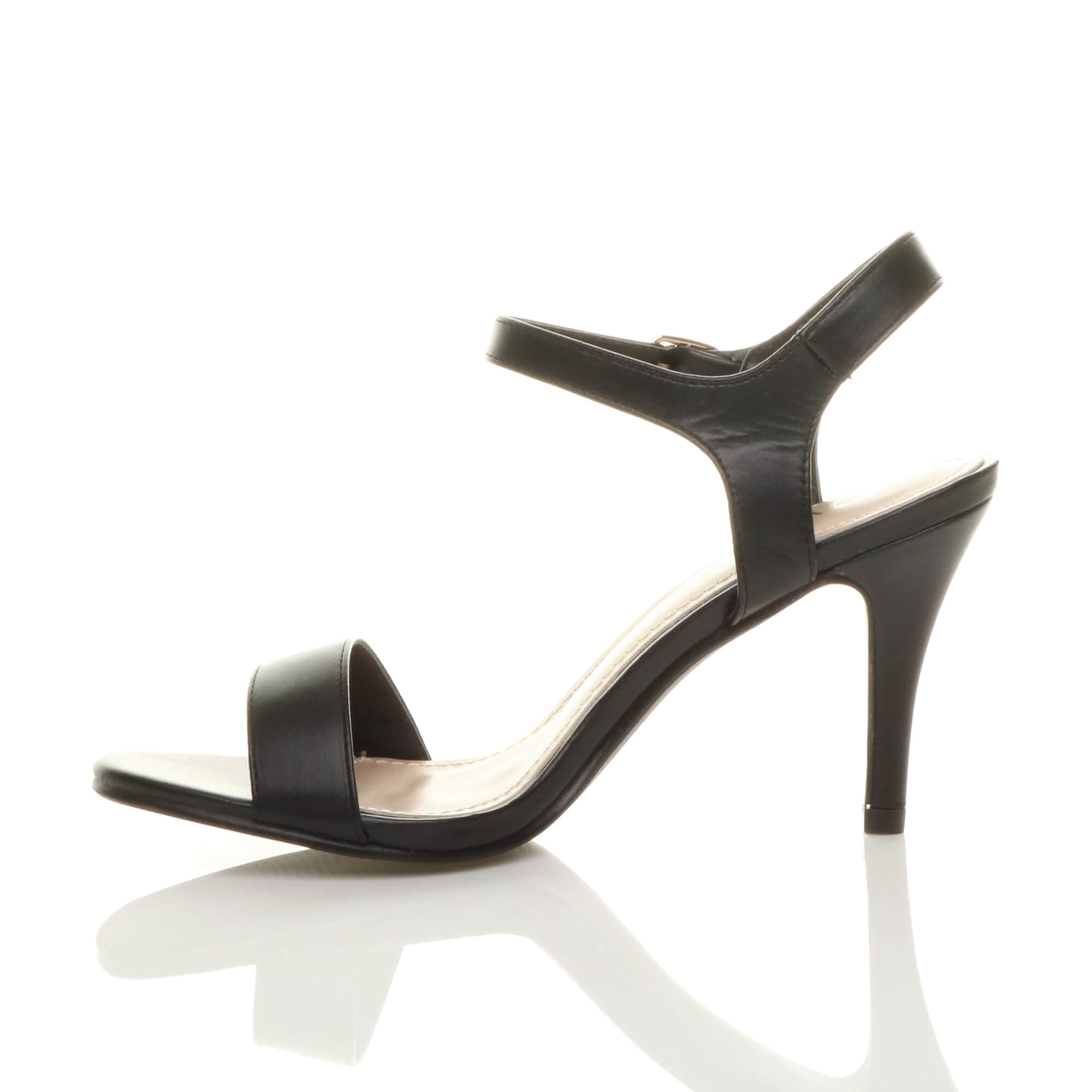 WOMENS-LADIES-HIGH-HEEL-BUCKLE-STRAPPY-BASIC-BARELY-THERE-SANDALS-SHOES-SIZE thumbnail 4