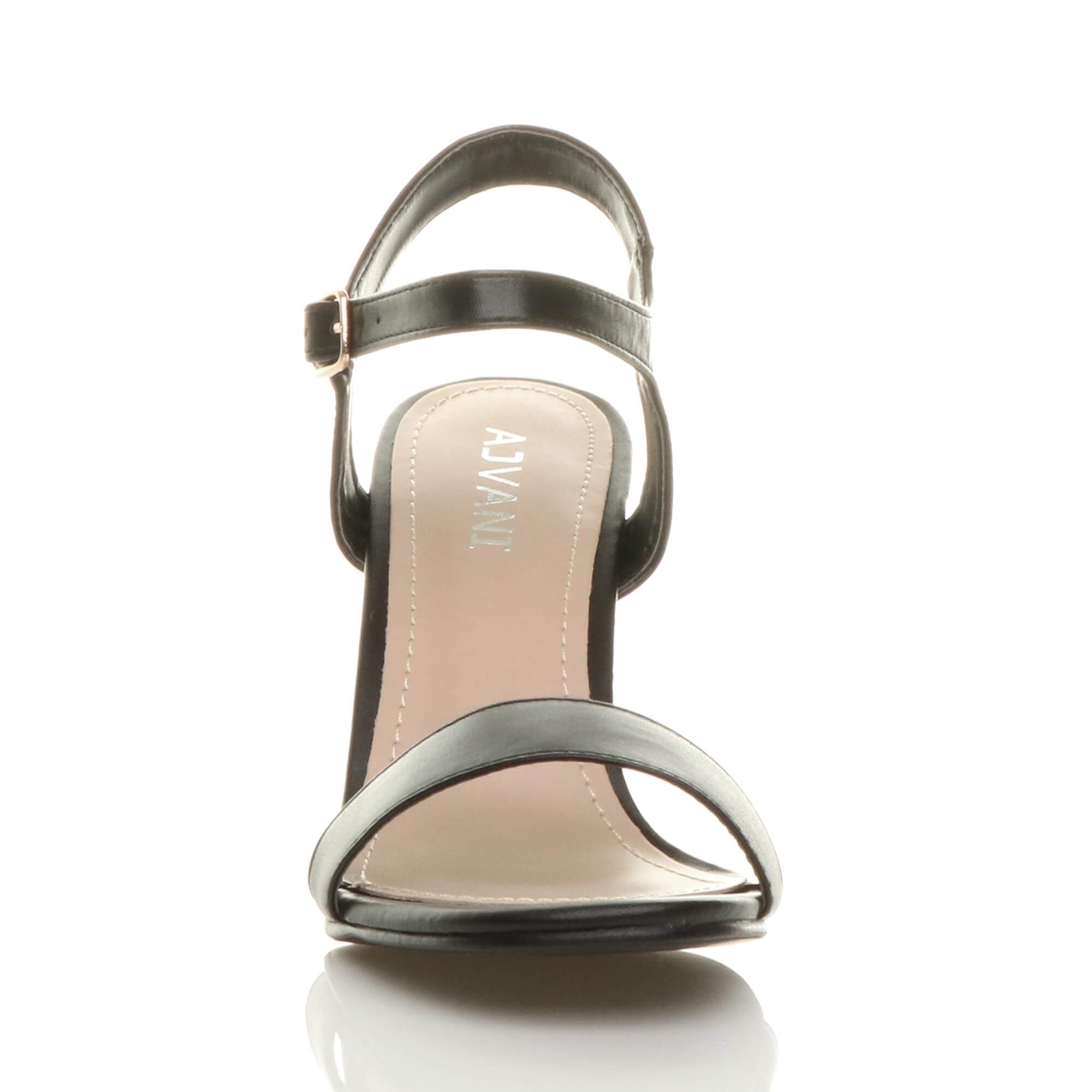 WOMENS-LADIES-HIGH-HEEL-BUCKLE-STRAPPY-BASIC-BARELY-THERE-SANDALS-SHOES-SIZE thumbnail 6