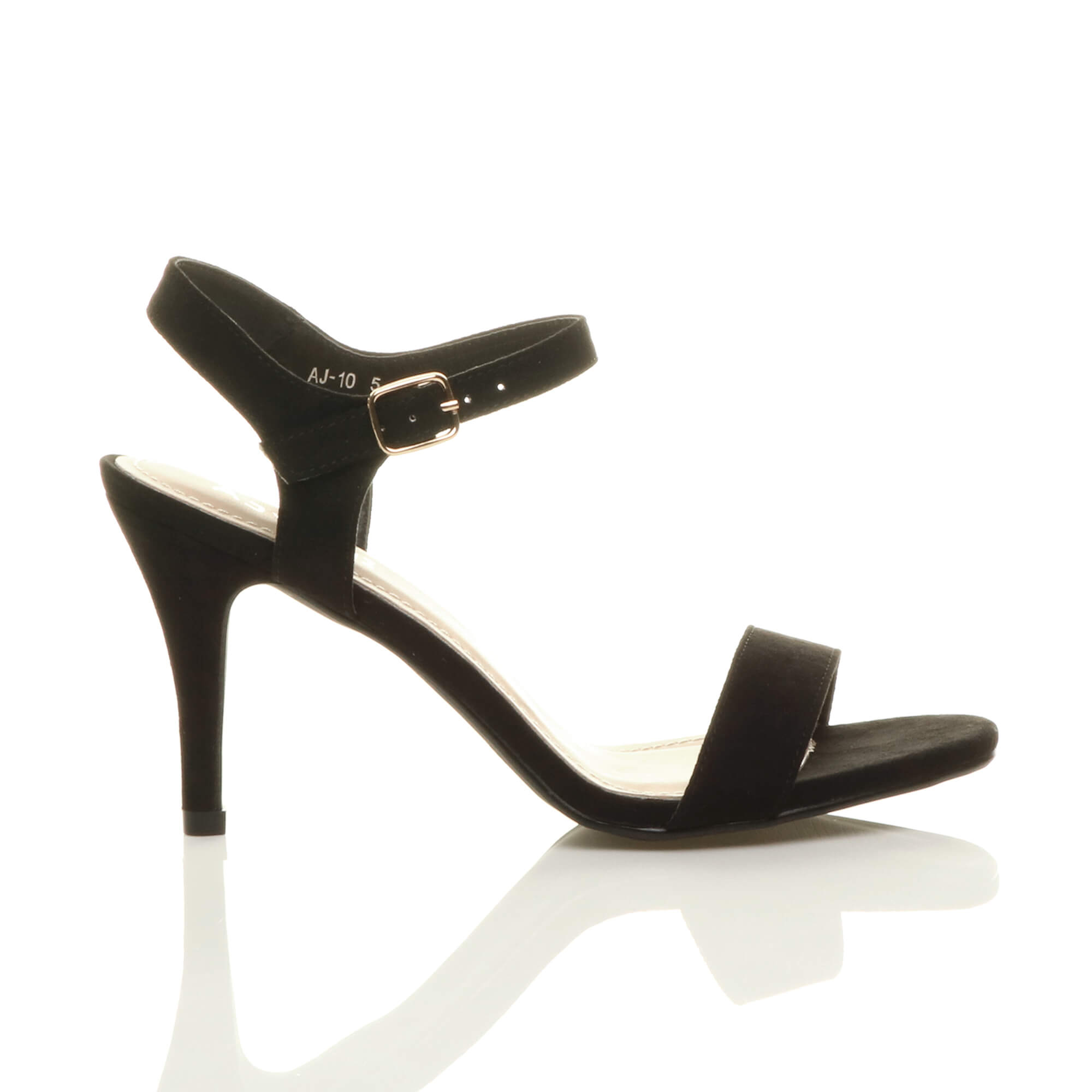WOMENS-LADIES-HIGH-HEEL-BUCKLE-STRAPPY-BASIC-BARELY-THERE-SANDALS-SHOES-SIZE thumbnail 10