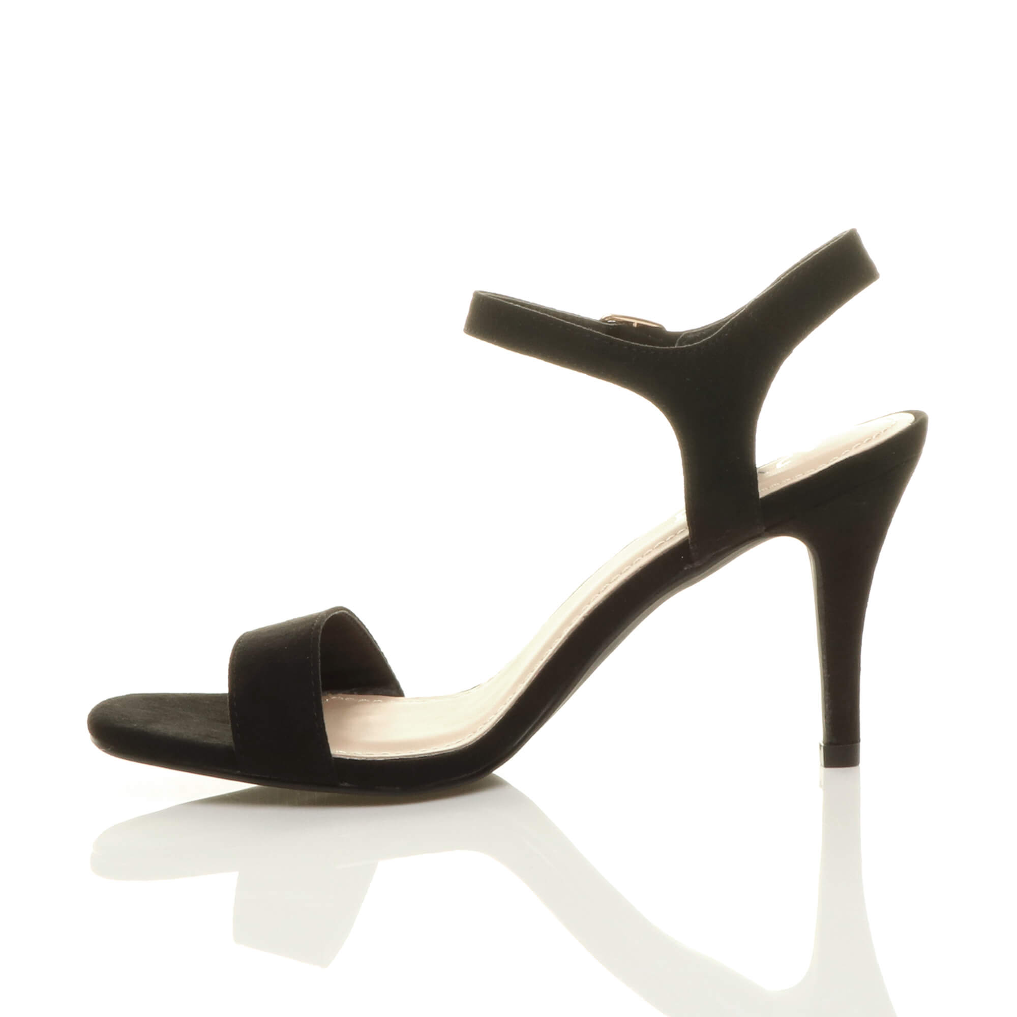 WOMENS-LADIES-HIGH-HEEL-BUCKLE-STRAPPY-BASIC-BARELY-THERE-SANDALS-SHOES-SIZE thumbnail 11