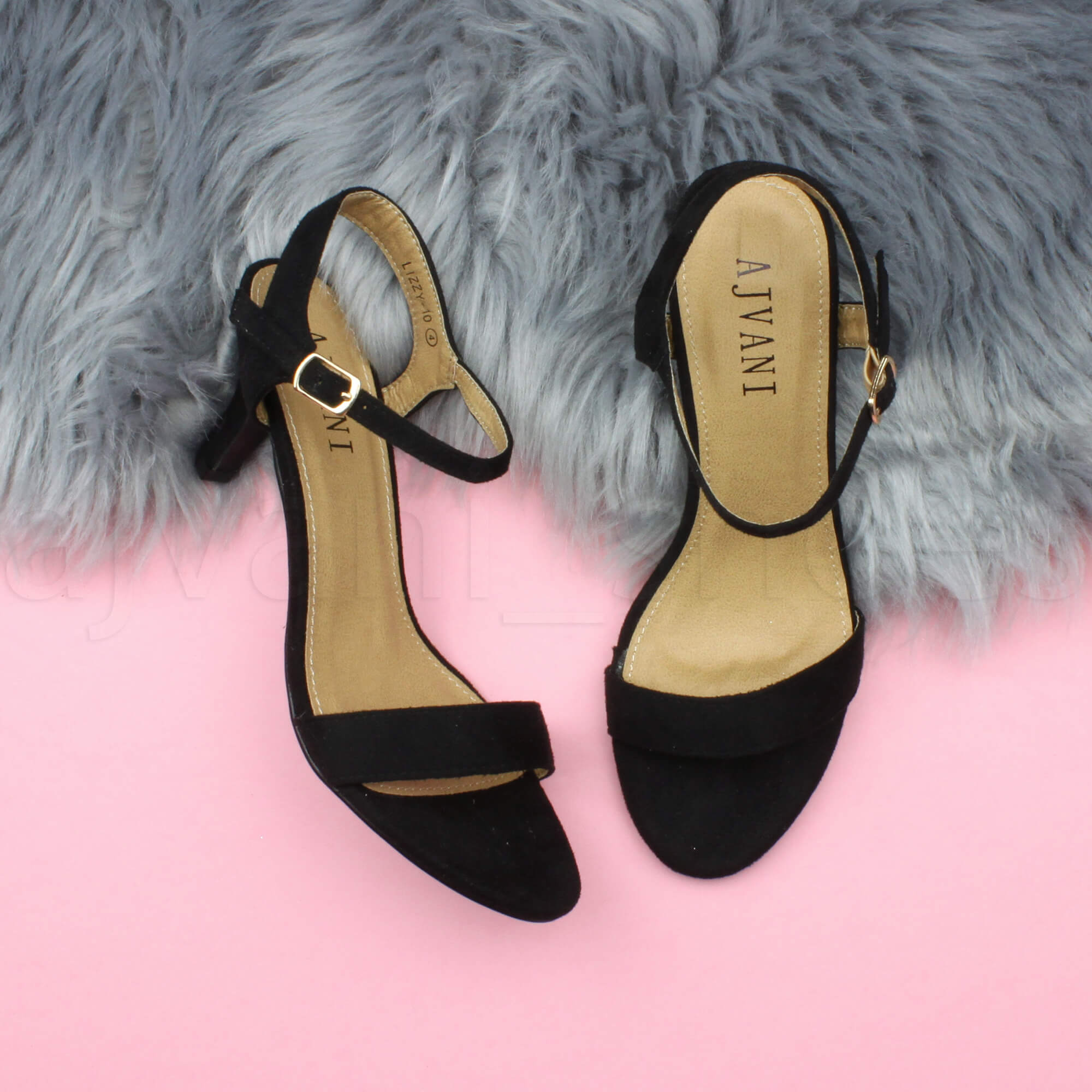 WOMENS-LADIES-HIGH-HEEL-BUCKLE-STRAPPY-BASIC-BARELY-THERE-SANDALS-SHOES-SIZE thumbnail 12