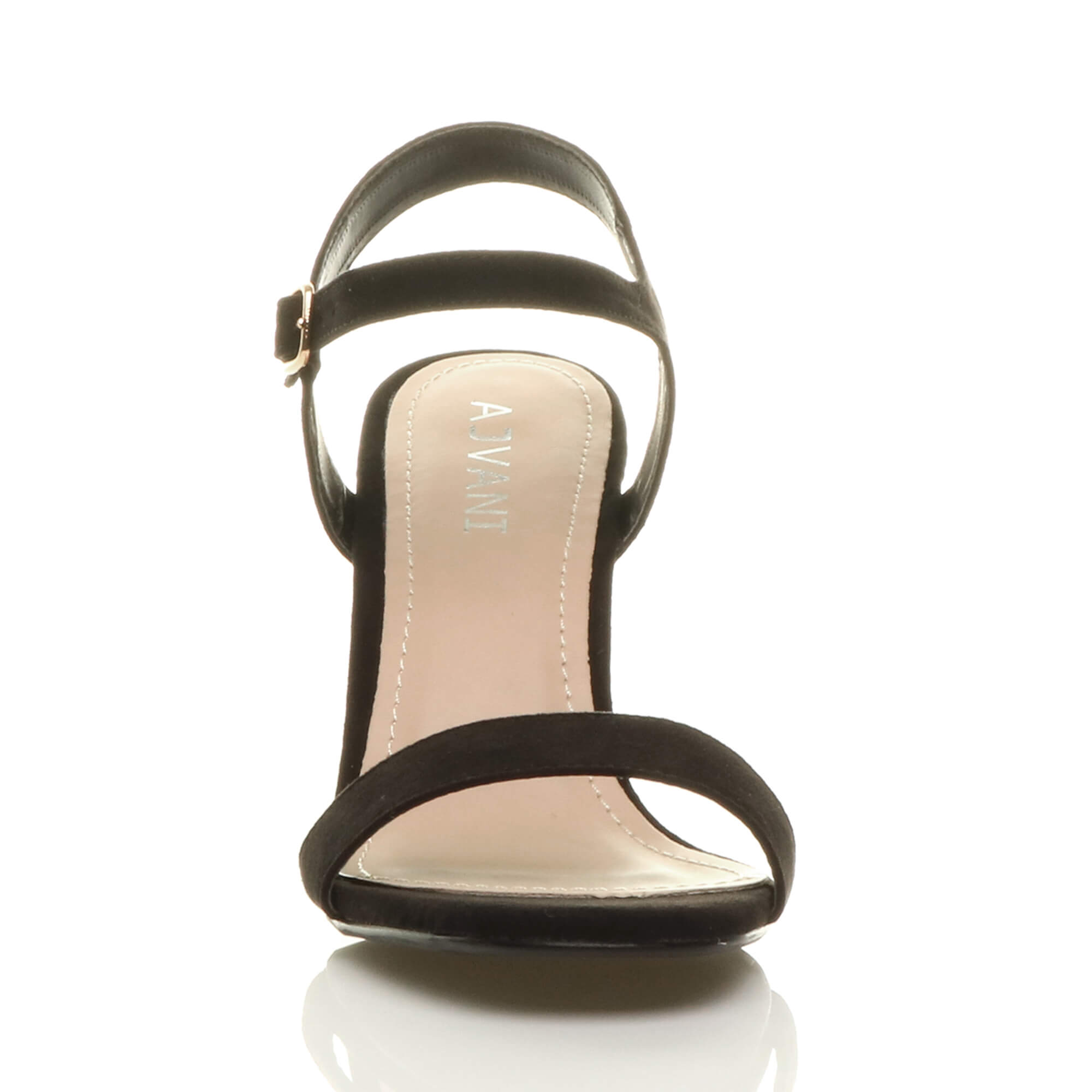 WOMENS-LADIES-HIGH-HEEL-BUCKLE-STRAPPY-BASIC-BARELY-THERE-SANDALS-SHOES-SIZE thumbnail 13