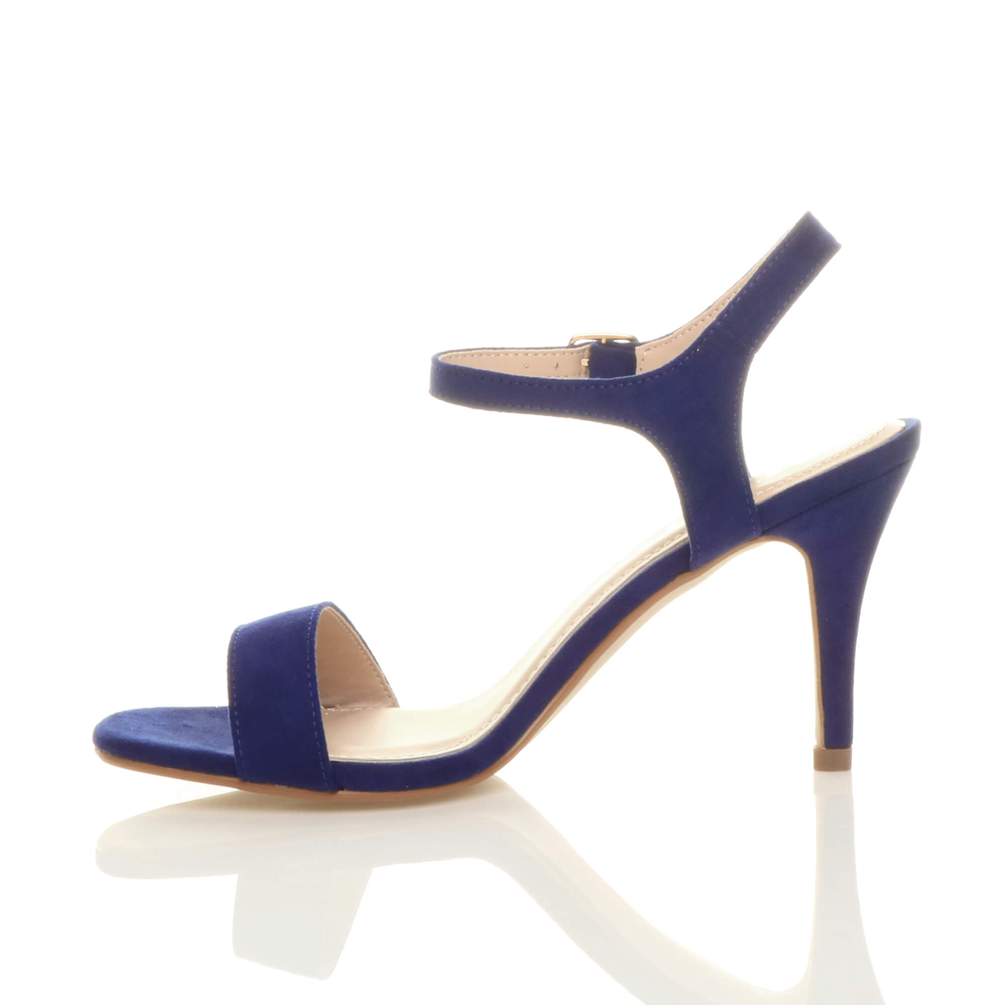 WOMENS-LADIES-HIGH-HEEL-BUCKLE-STRAPPY-BASIC-BARELY-THERE-SANDALS-SHOES-SIZE thumbnail 18