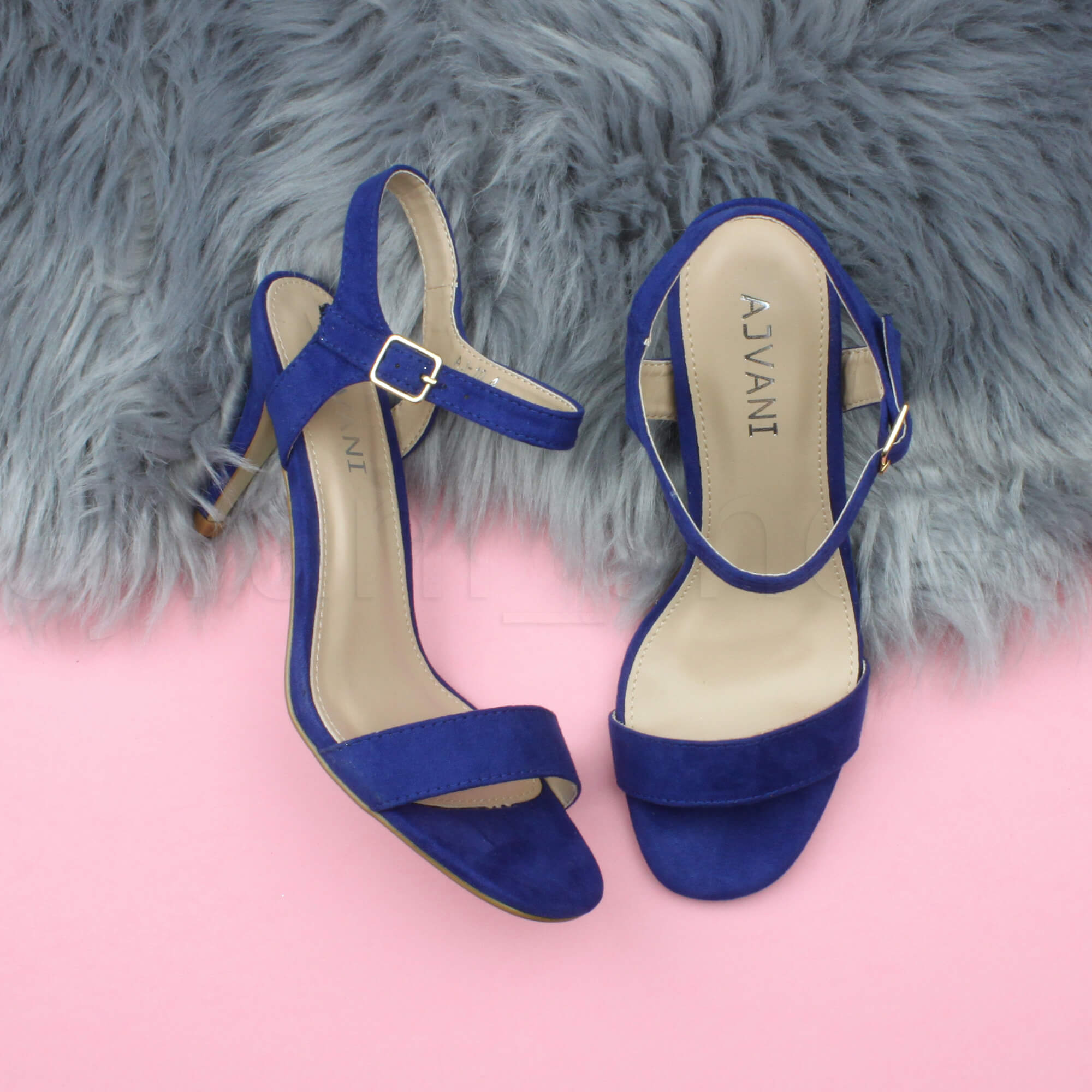 WOMENS-LADIES-HIGH-HEEL-BUCKLE-STRAPPY-BASIC-BARELY-THERE-SANDALS-SHOES-SIZE thumbnail 19