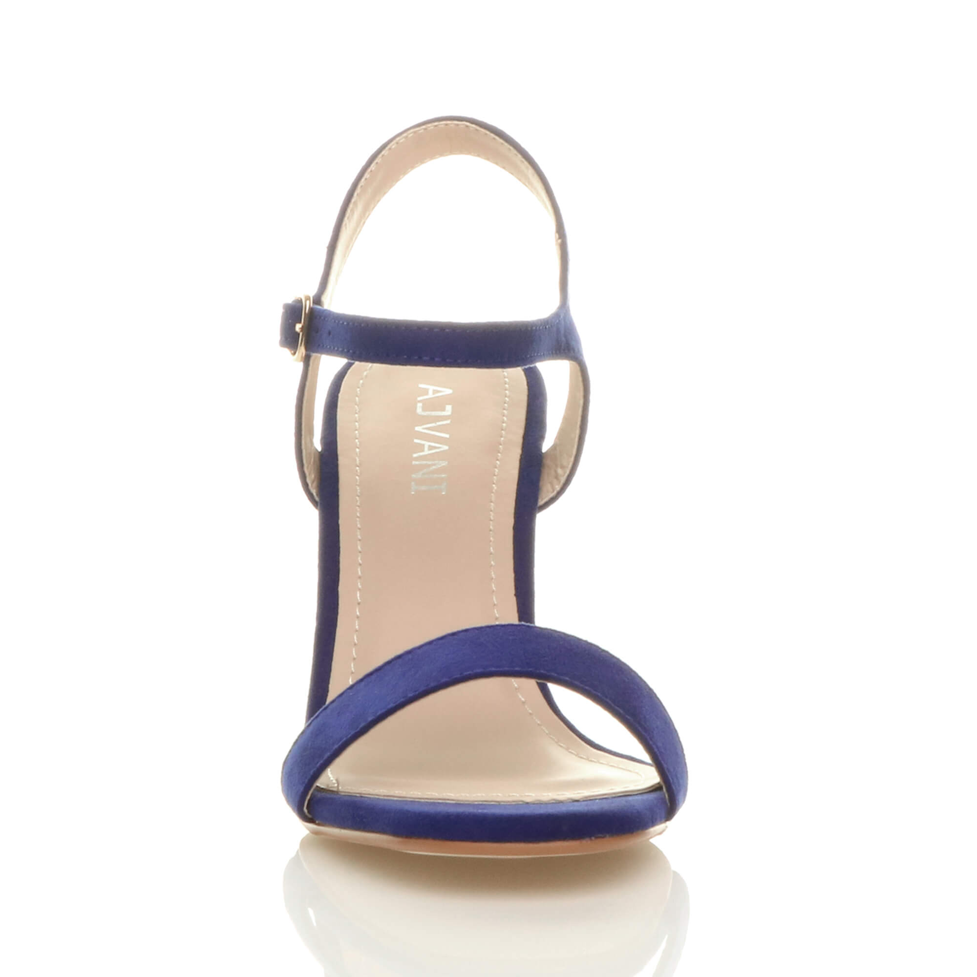 WOMENS-LADIES-HIGH-HEEL-BUCKLE-STRAPPY-BASIC-BARELY-THERE-SANDALS-SHOES-SIZE thumbnail 20