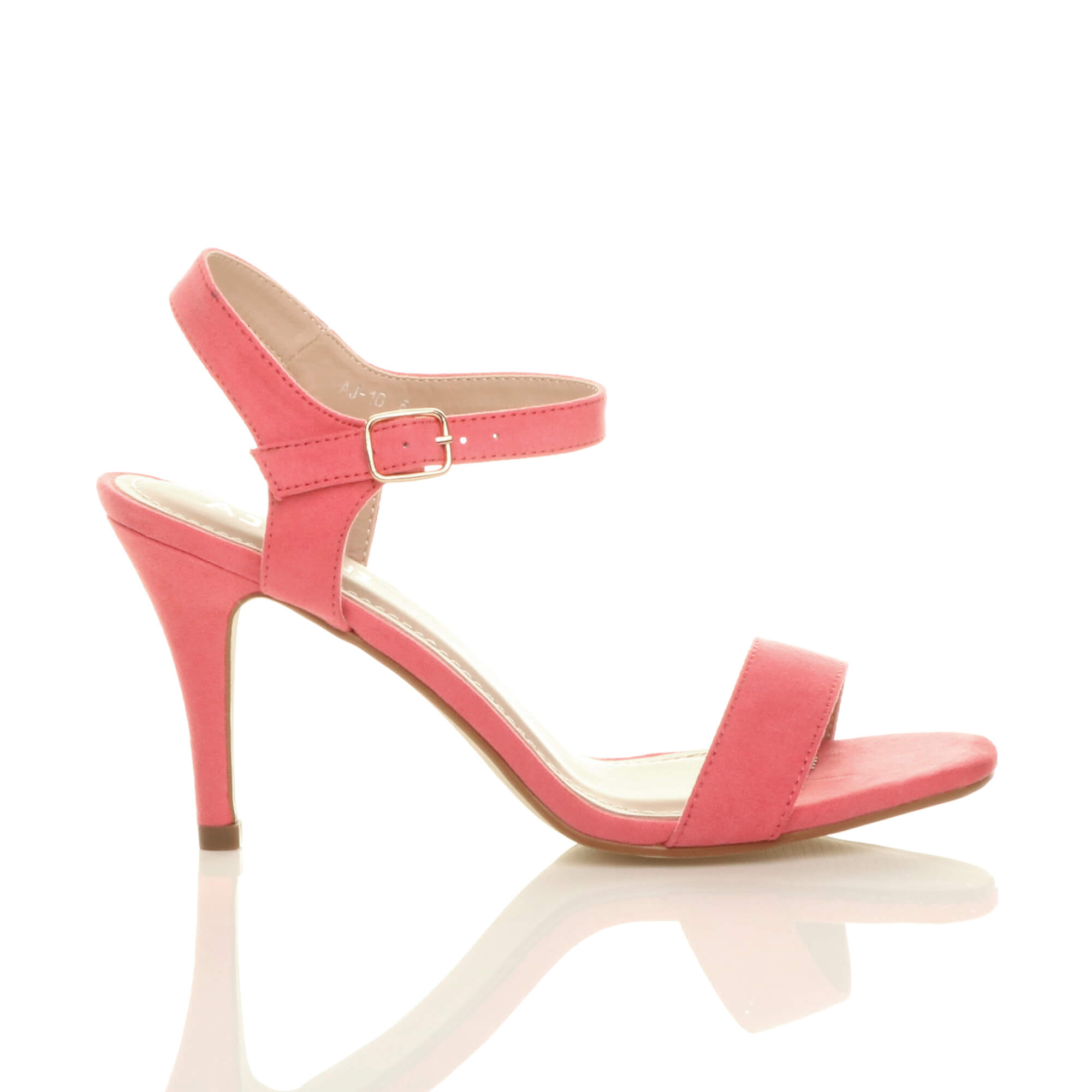 WOMENS-LADIES-HIGH-HEEL-BUCKLE-STRAPPY-BASIC-BARELY-THERE-SANDALS-SHOES-SIZE thumbnail 24