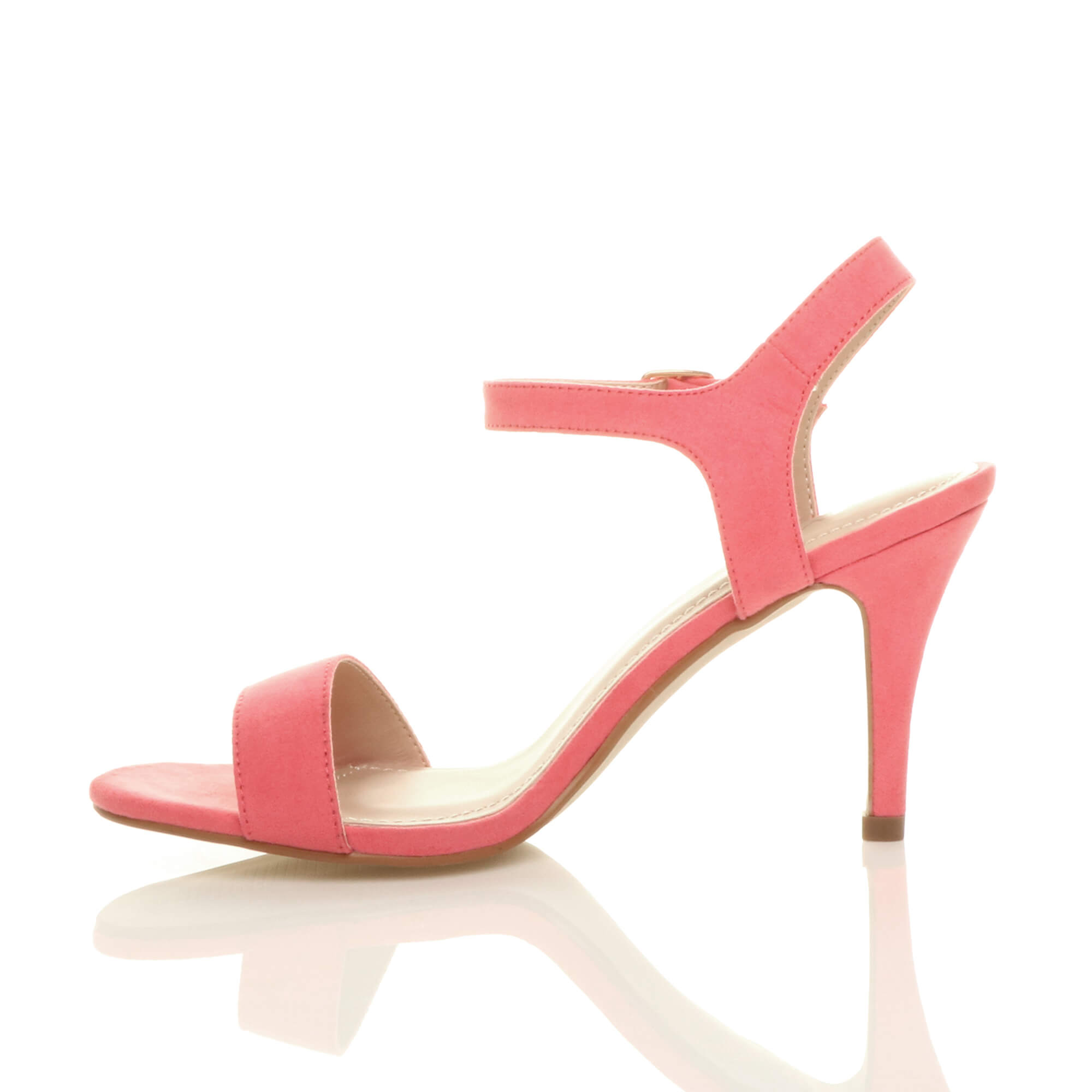 WOMENS-LADIES-HIGH-HEEL-BUCKLE-STRAPPY-BASIC-BARELY-THERE-SANDALS-SHOES-SIZE thumbnail 25