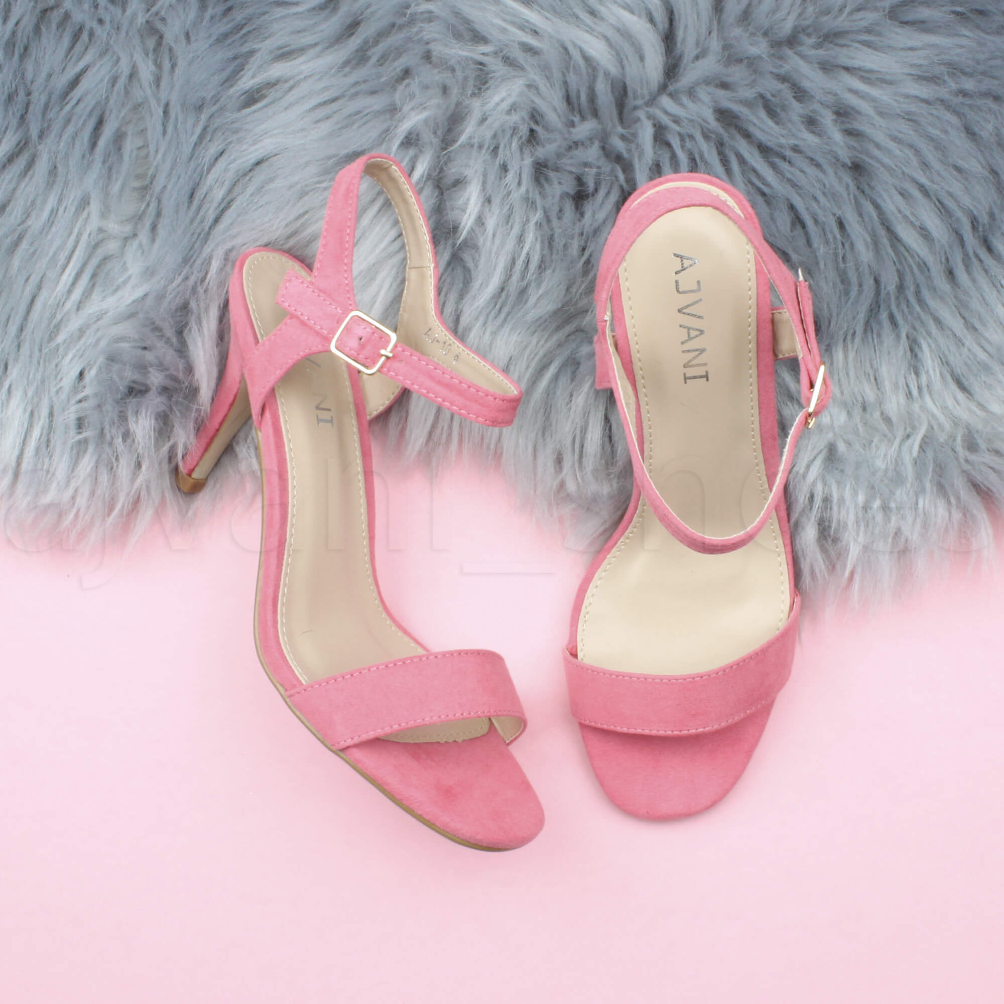 WOMENS-LADIES-HIGH-HEEL-BUCKLE-STRAPPY-BASIC-BARELY-THERE-SANDALS-SHOES-SIZE thumbnail 26