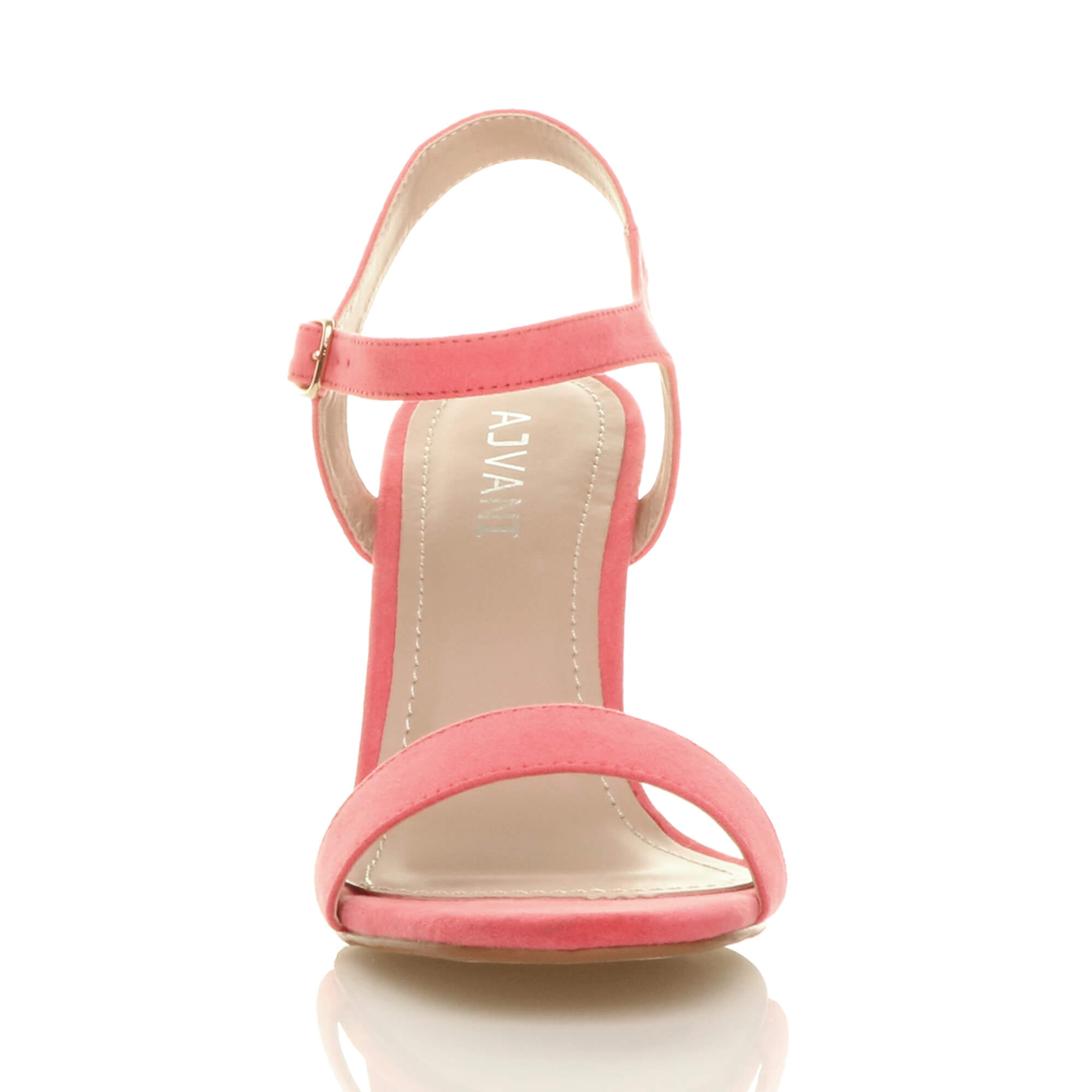 WOMENS-LADIES-HIGH-HEEL-BUCKLE-STRAPPY-BASIC-BARELY-THERE-SANDALS-SHOES-SIZE thumbnail 27