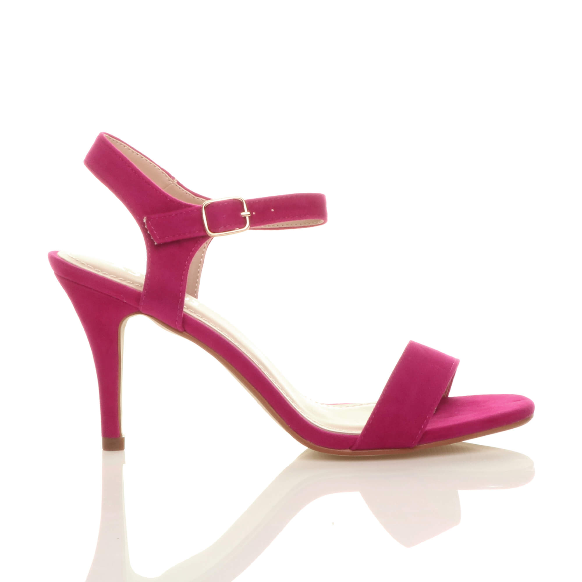 WOMENS-LADIES-HIGH-HEEL-BUCKLE-STRAPPY-BASIC-BARELY-THERE-SANDALS-SHOES-SIZE thumbnail 31