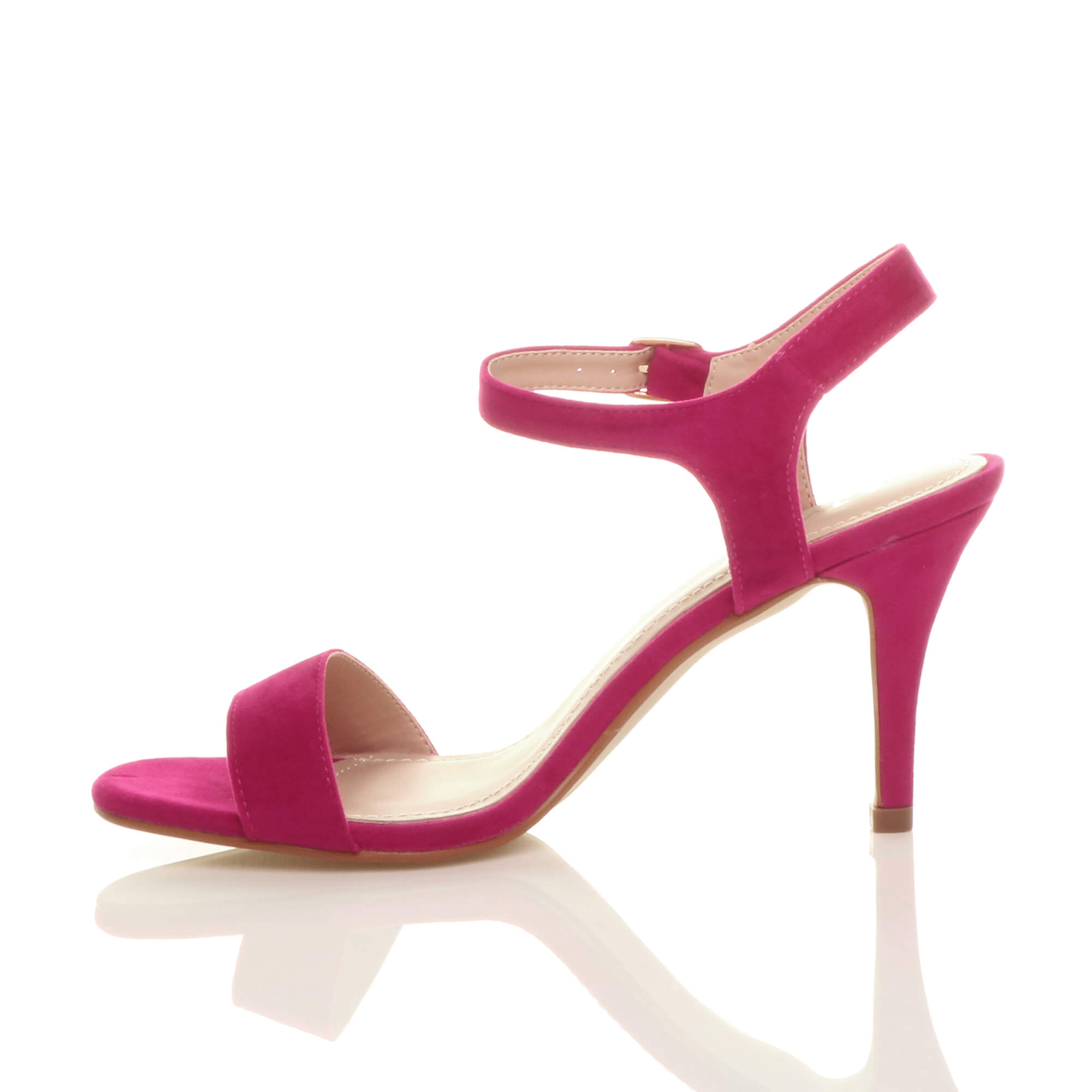 WOMENS-LADIES-HIGH-HEEL-BUCKLE-STRAPPY-BASIC-BARELY-THERE-SANDALS-SHOES-SIZE thumbnail 32