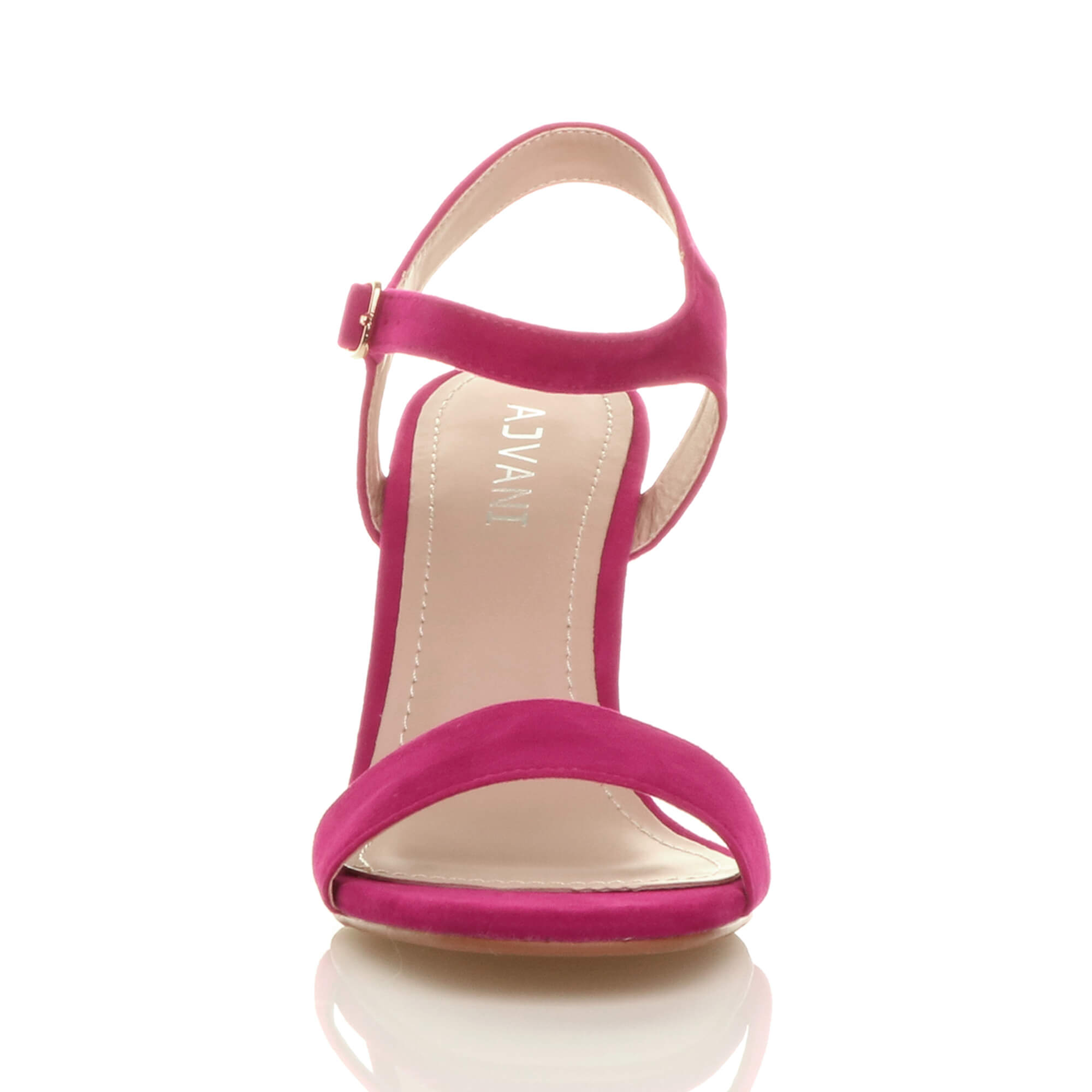 WOMENS-LADIES-HIGH-HEEL-BUCKLE-STRAPPY-BASIC-BARELY-THERE-SANDALS-SHOES-SIZE thumbnail 34