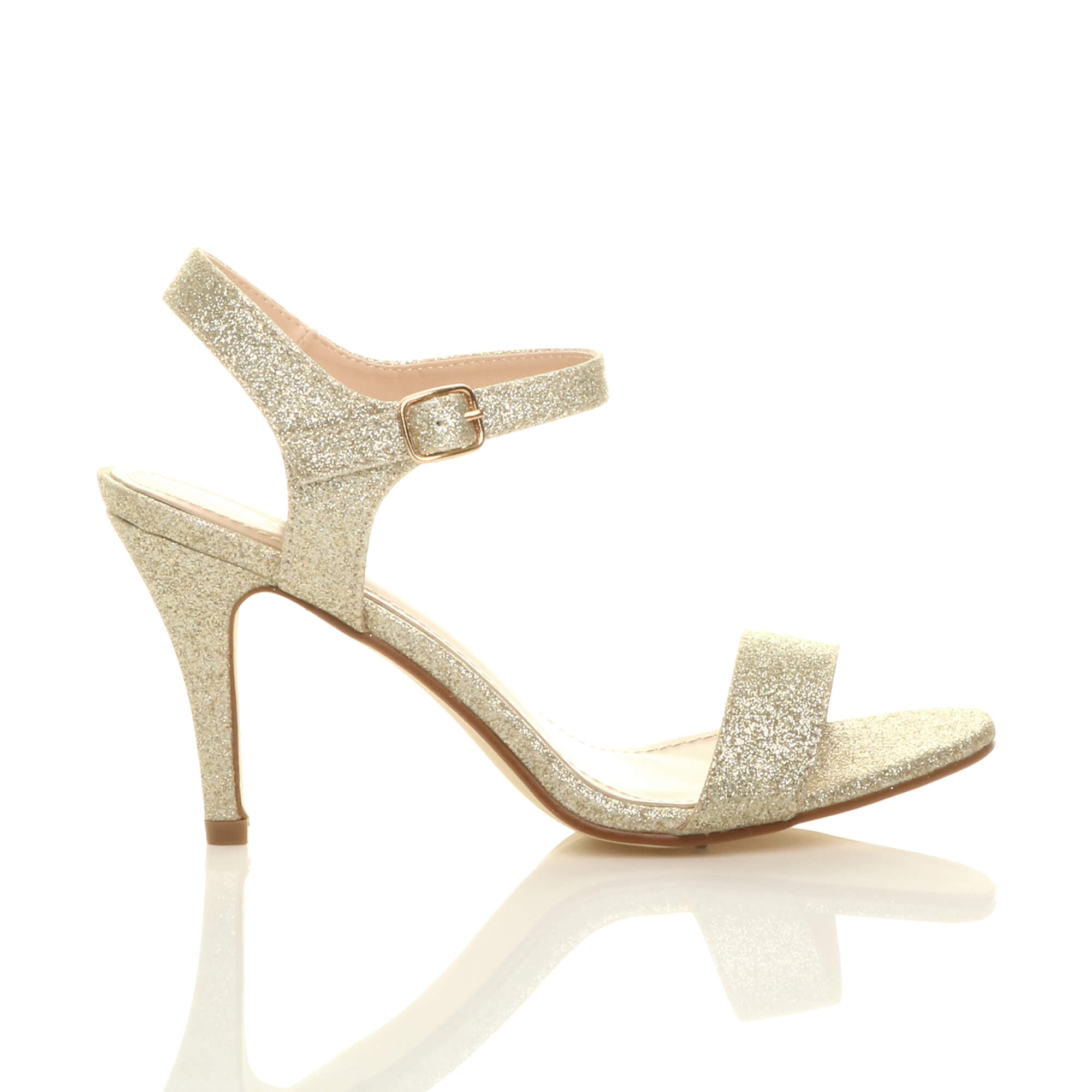 WOMENS-LADIES-HIGH-HEEL-BUCKLE-STRAPPY-BASIC-BARELY-THERE-SANDALS-SHOES-SIZE thumbnail 38