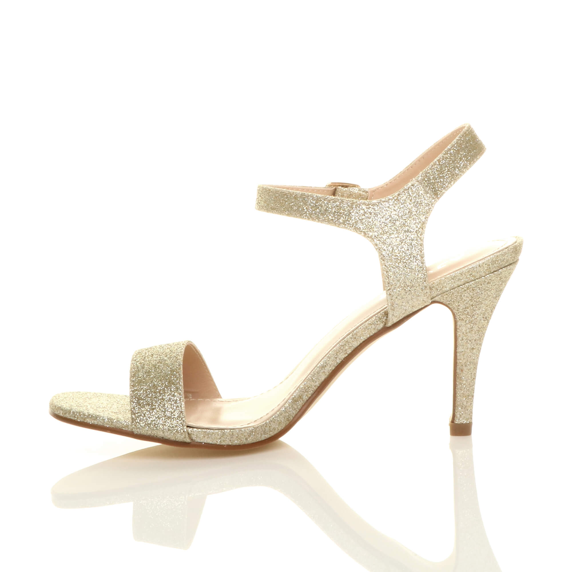 WOMENS-LADIES-HIGH-HEEL-BUCKLE-STRAPPY-BASIC-BARELY-THERE-SANDALS-SHOES-SIZE thumbnail 39