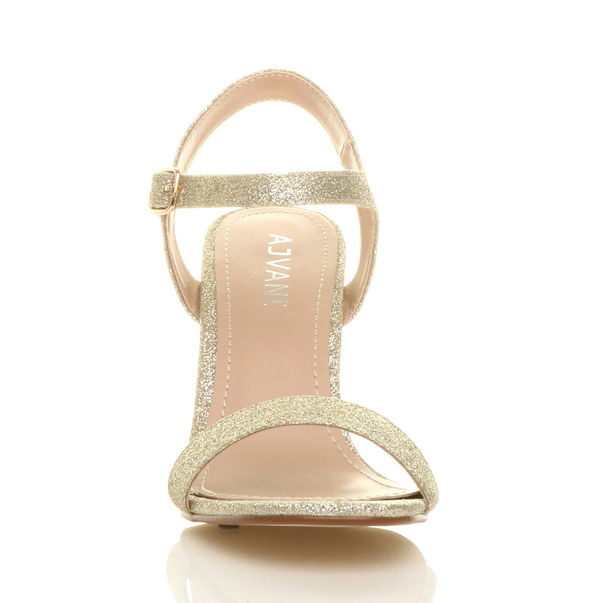 WOMENS-LADIES-HIGH-HEEL-BUCKLE-STRAPPY-BASIC-BARELY-THERE-SANDALS-SHOES-SIZE thumbnail 41