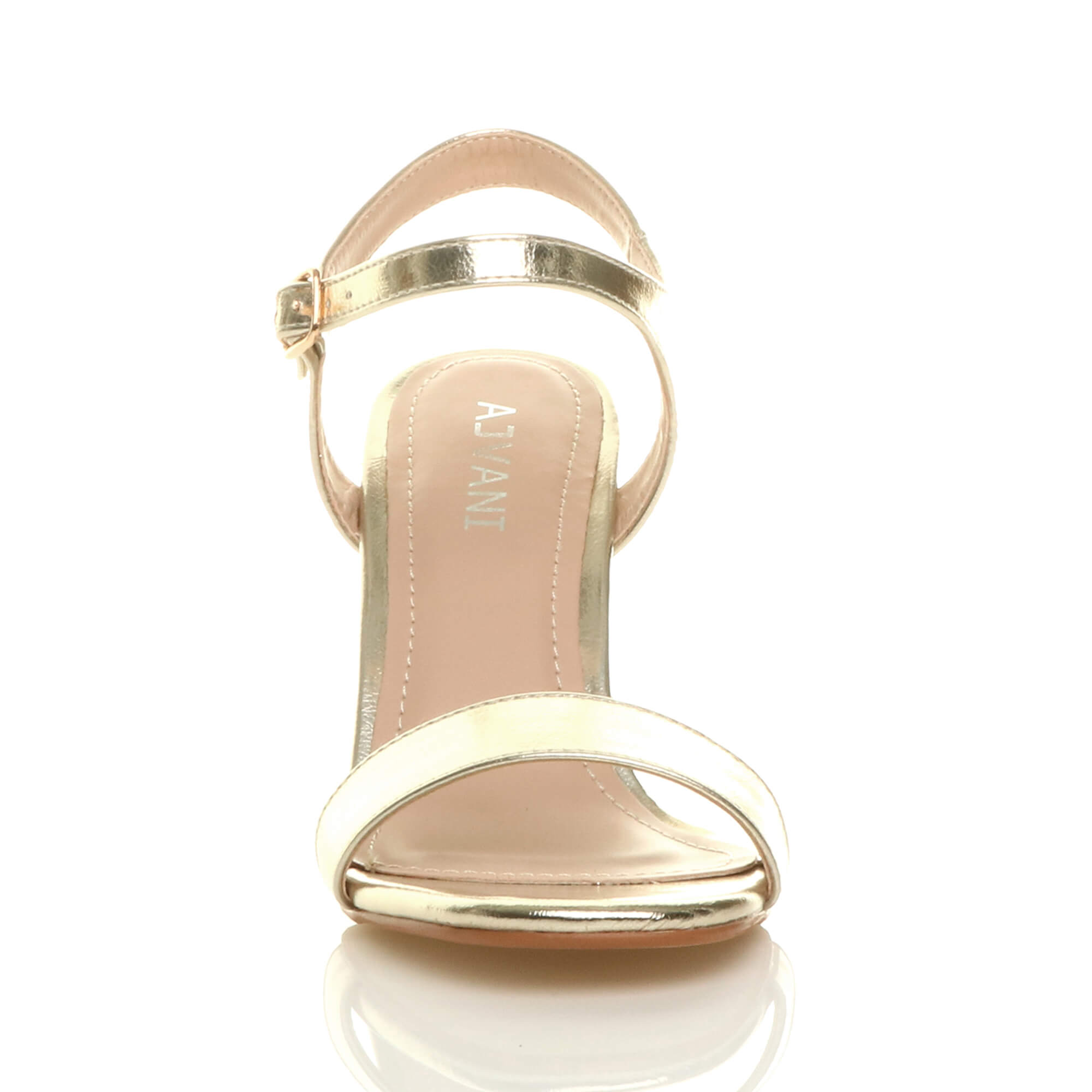 WOMENS-LADIES-HIGH-HEEL-BUCKLE-STRAPPY-BASIC-BARELY-THERE-SANDALS-SHOES-SIZE thumbnail 48