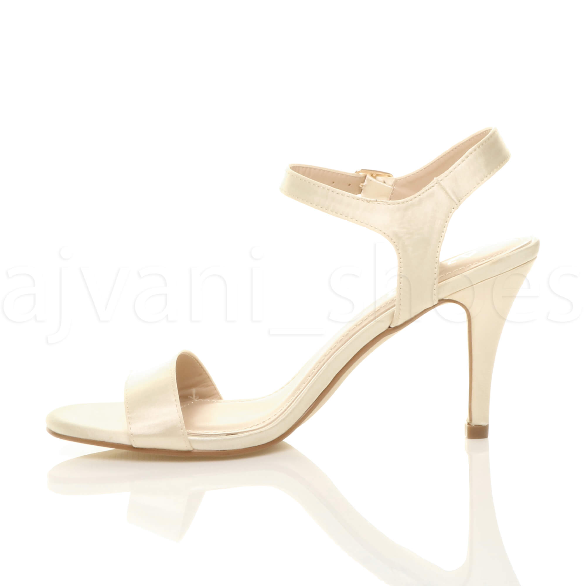 WOMENS-LADIES-HIGH-HEEL-BUCKLE-STRAPPY-BASIC-BARELY-THERE-SANDALS-SHOES-SIZE thumbnail 53