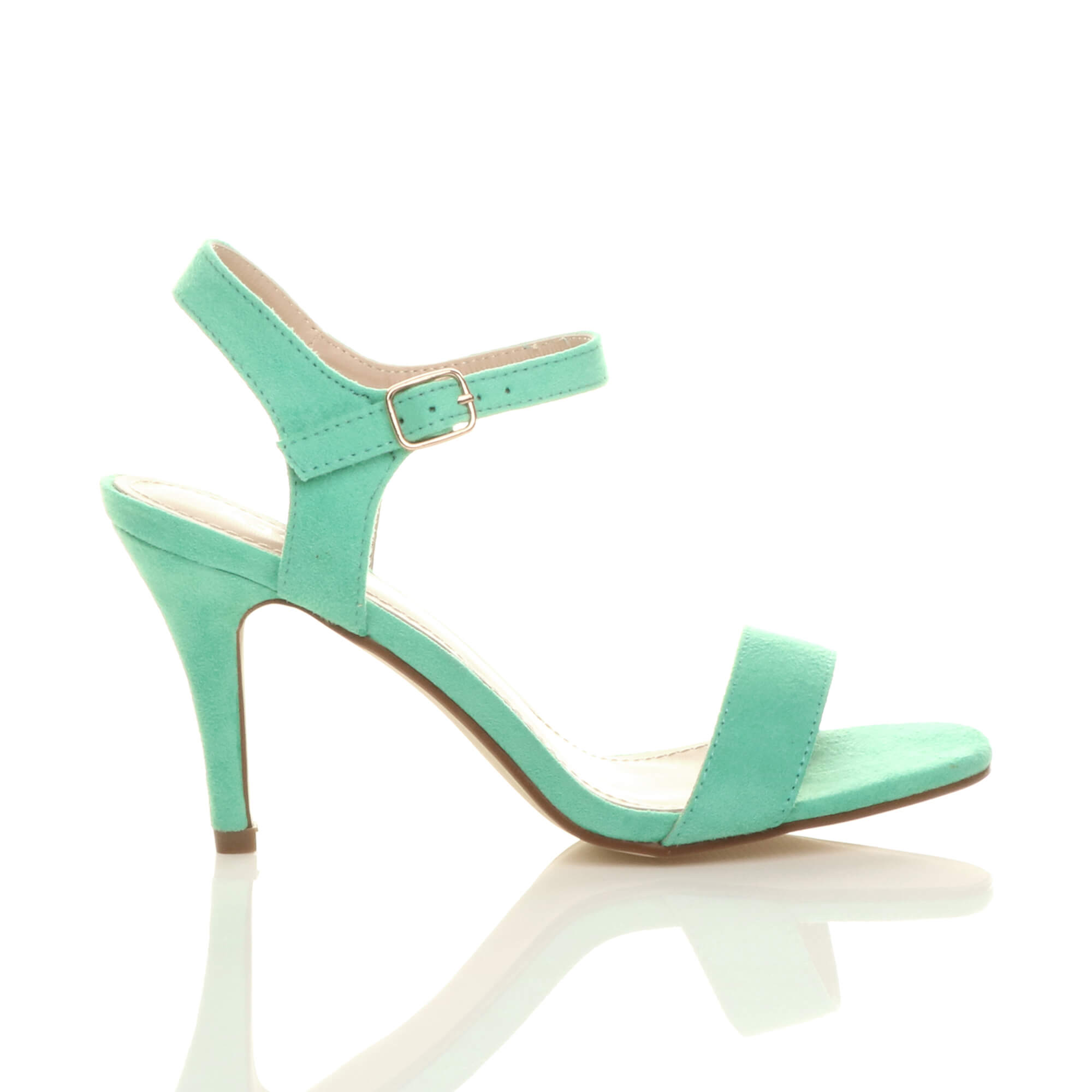 WOMENS-LADIES-HIGH-HEEL-BUCKLE-STRAPPY-BASIC-BARELY-THERE-SANDALS-SHOES-SIZE thumbnail 59