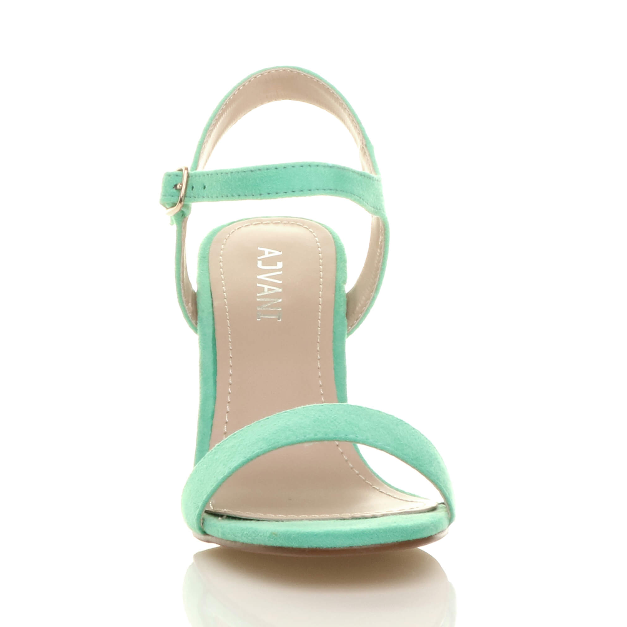 WOMENS-LADIES-HIGH-HEEL-BUCKLE-STRAPPY-BASIC-BARELY-THERE-SANDALS-SHOES-SIZE thumbnail 62