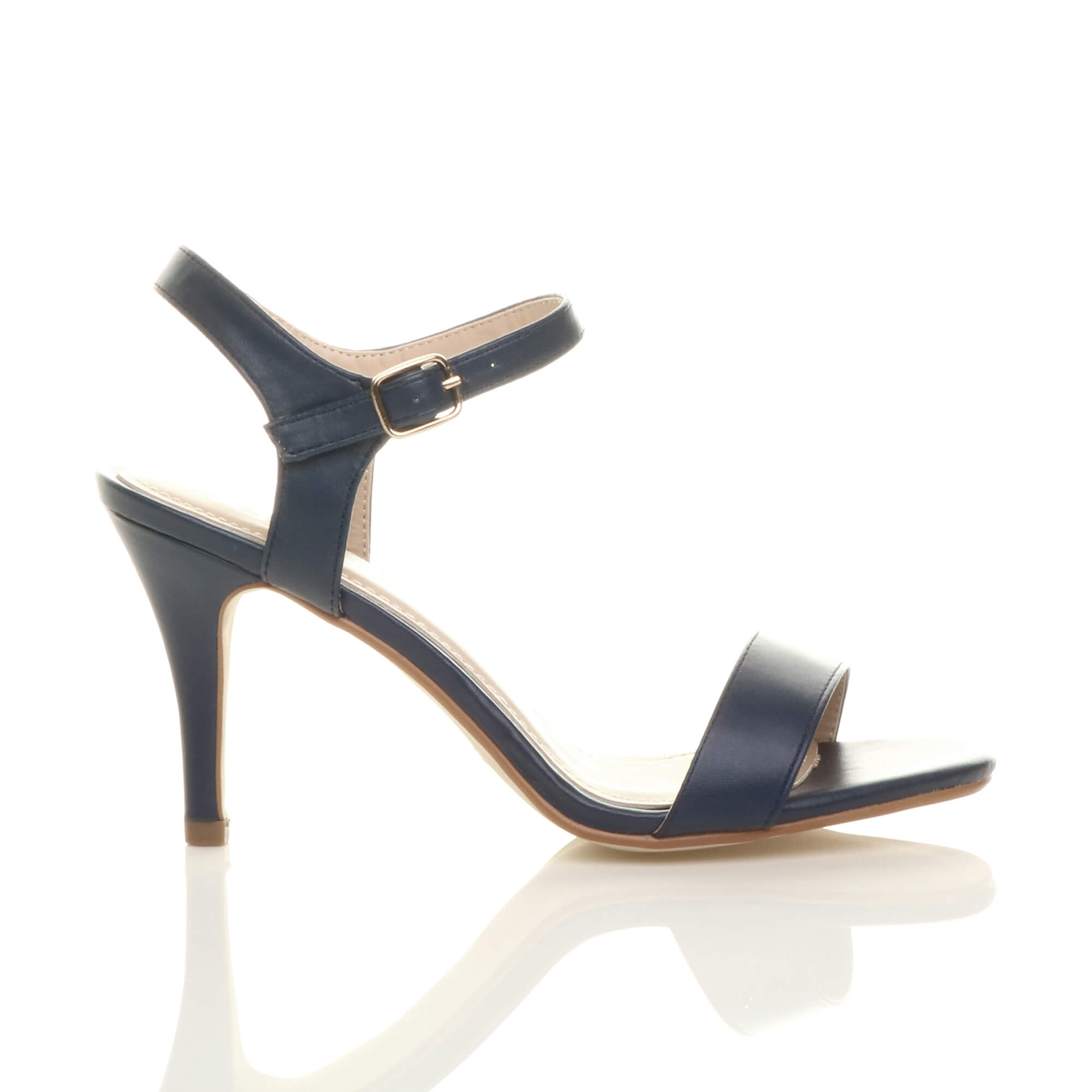 WOMENS-LADIES-HIGH-HEEL-BUCKLE-STRAPPY-BASIC-BARELY-THERE-SANDALS-SHOES-SIZE thumbnail 66