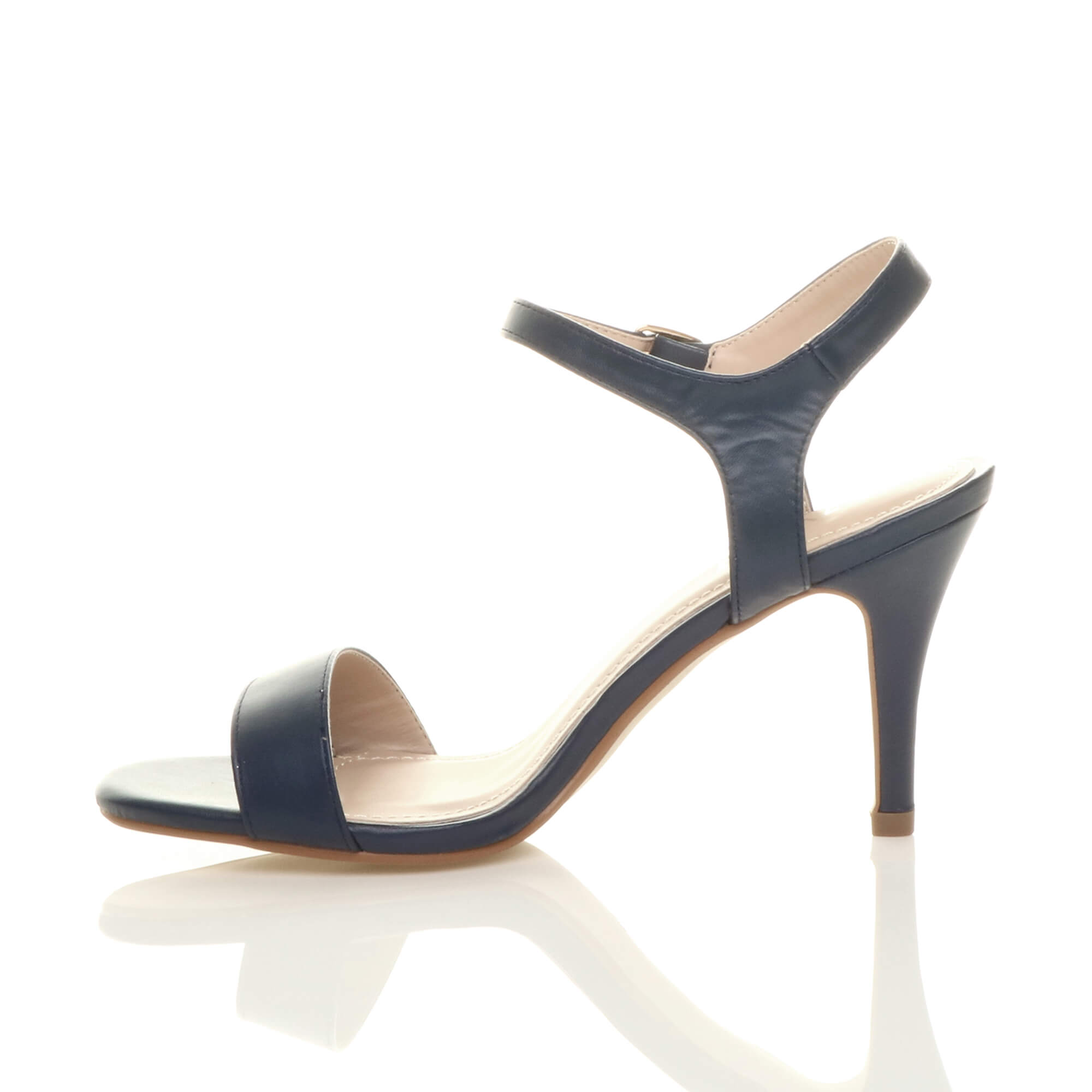 WOMENS-LADIES-HIGH-HEEL-BUCKLE-STRAPPY-BASIC-BARELY-THERE-SANDALS-SHOES-SIZE thumbnail 67