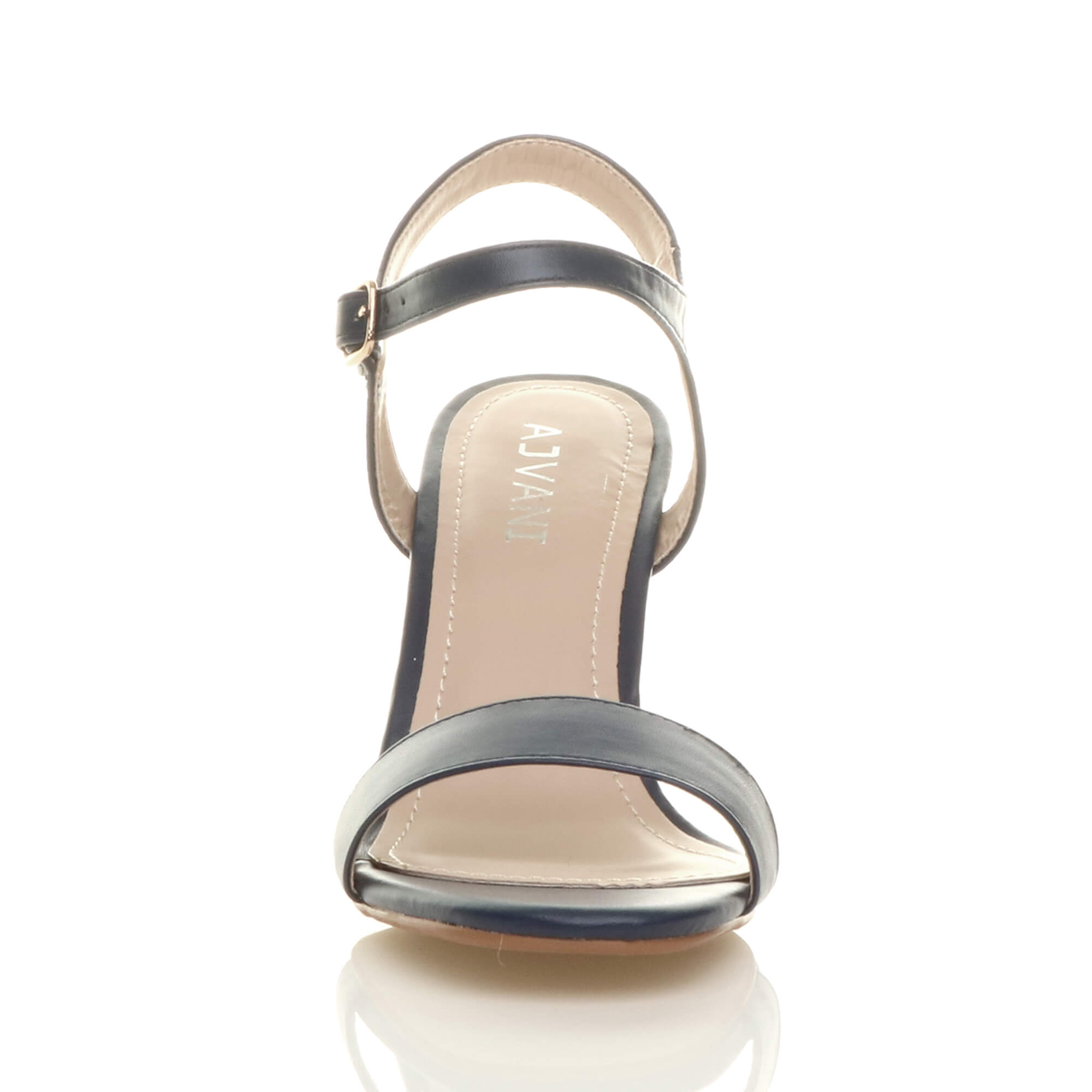 WOMENS-LADIES-HIGH-HEEL-BUCKLE-STRAPPY-BASIC-BARELY-THERE-SANDALS-SHOES-SIZE thumbnail 69