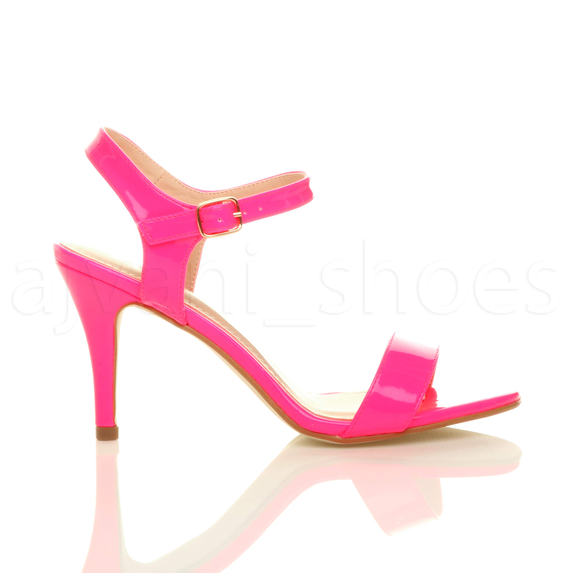 WOMENS-LADIES-HIGH-HEEL-BUCKLE-STRAPPY-BASIC-BARELY-THERE-SANDALS-SHOES-SIZE thumbnail 80