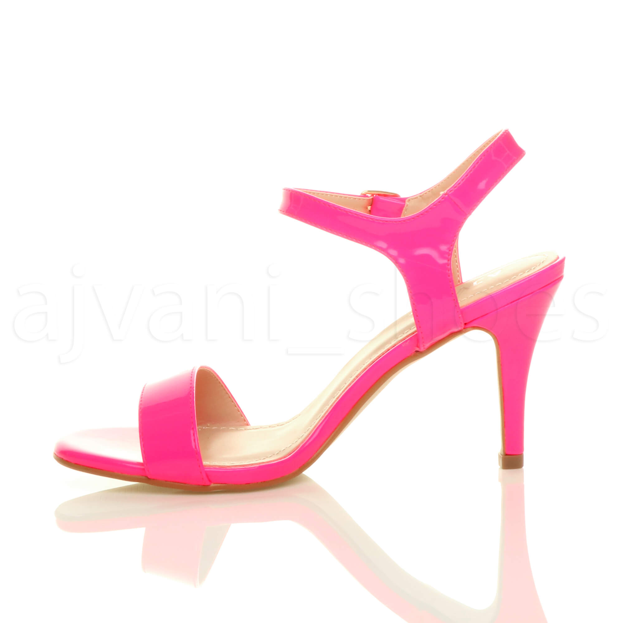 WOMENS-LADIES-HIGH-HEEL-BUCKLE-STRAPPY-BASIC-BARELY-THERE-SANDALS-SHOES-SIZE thumbnail 81