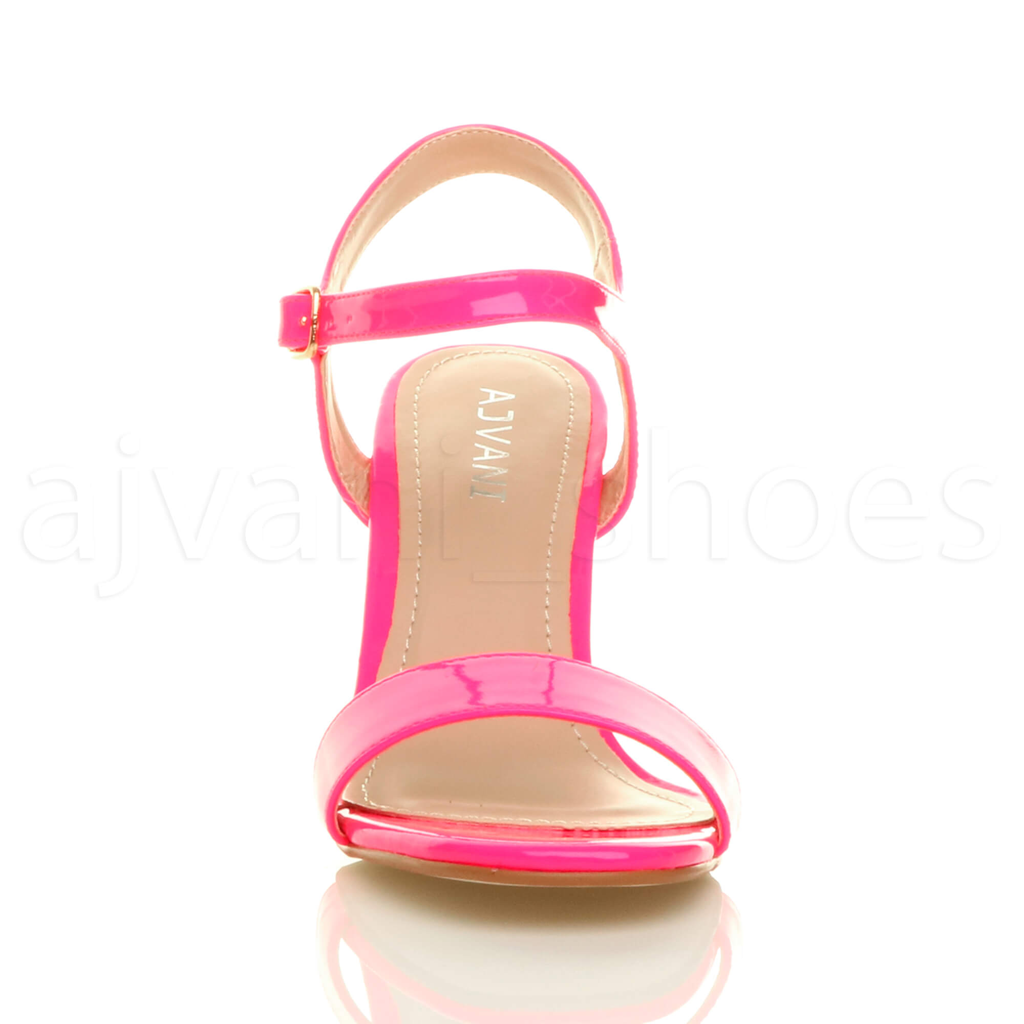 WOMENS-LADIES-HIGH-HEEL-BUCKLE-STRAPPY-BASIC-BARELY-THERE-SANDALS-SHOES-SIZE thumbnail 83