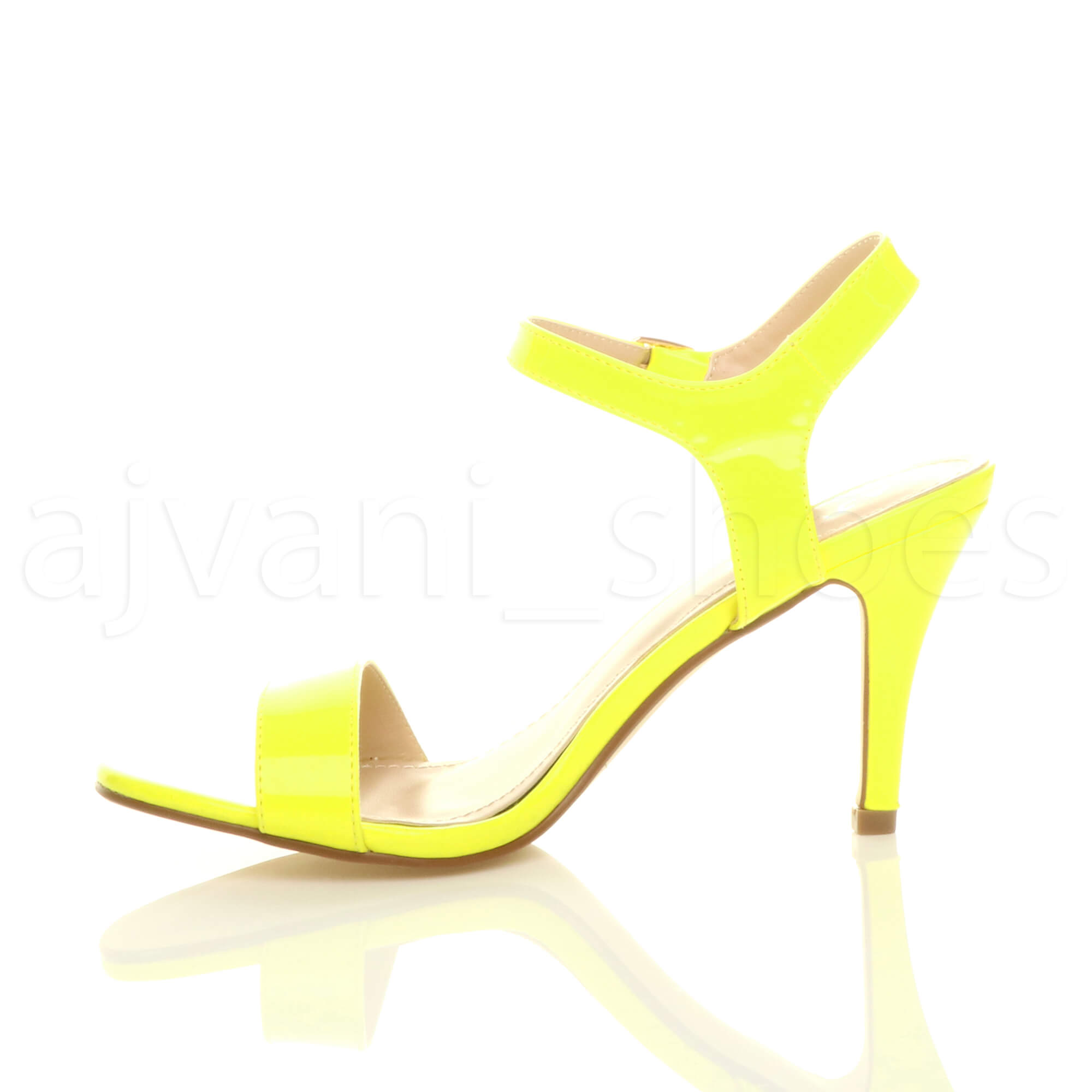 WOMENS-LADIES-HIGH-HEEL-BUCKLE-STRAPPY-BASIC-BARELY-THERE-SANDALS-SHOES-SIZE thumbnail 88